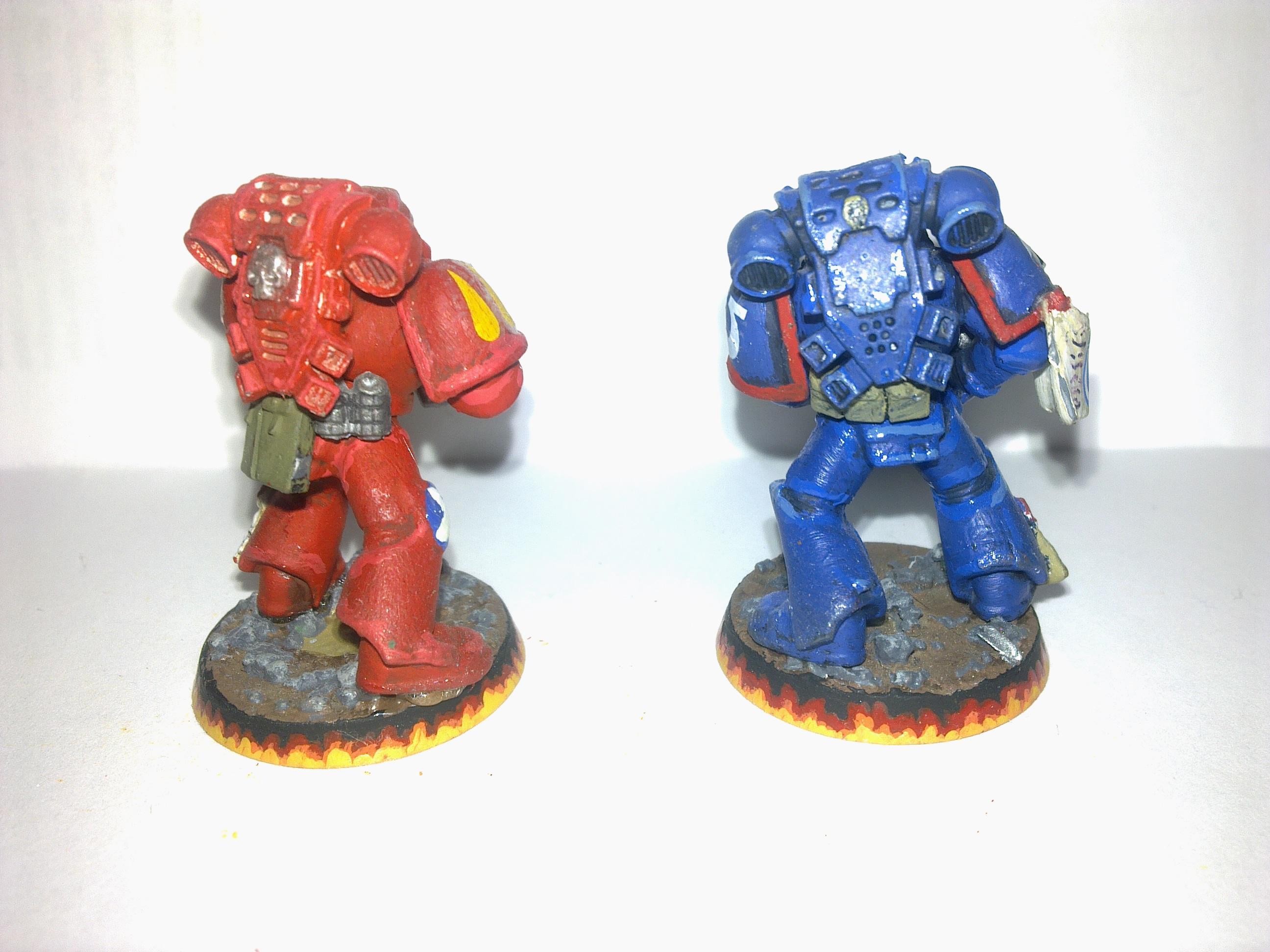 Spacemarine. Blood Angel, Ultramarines, Warhammer 40,000
