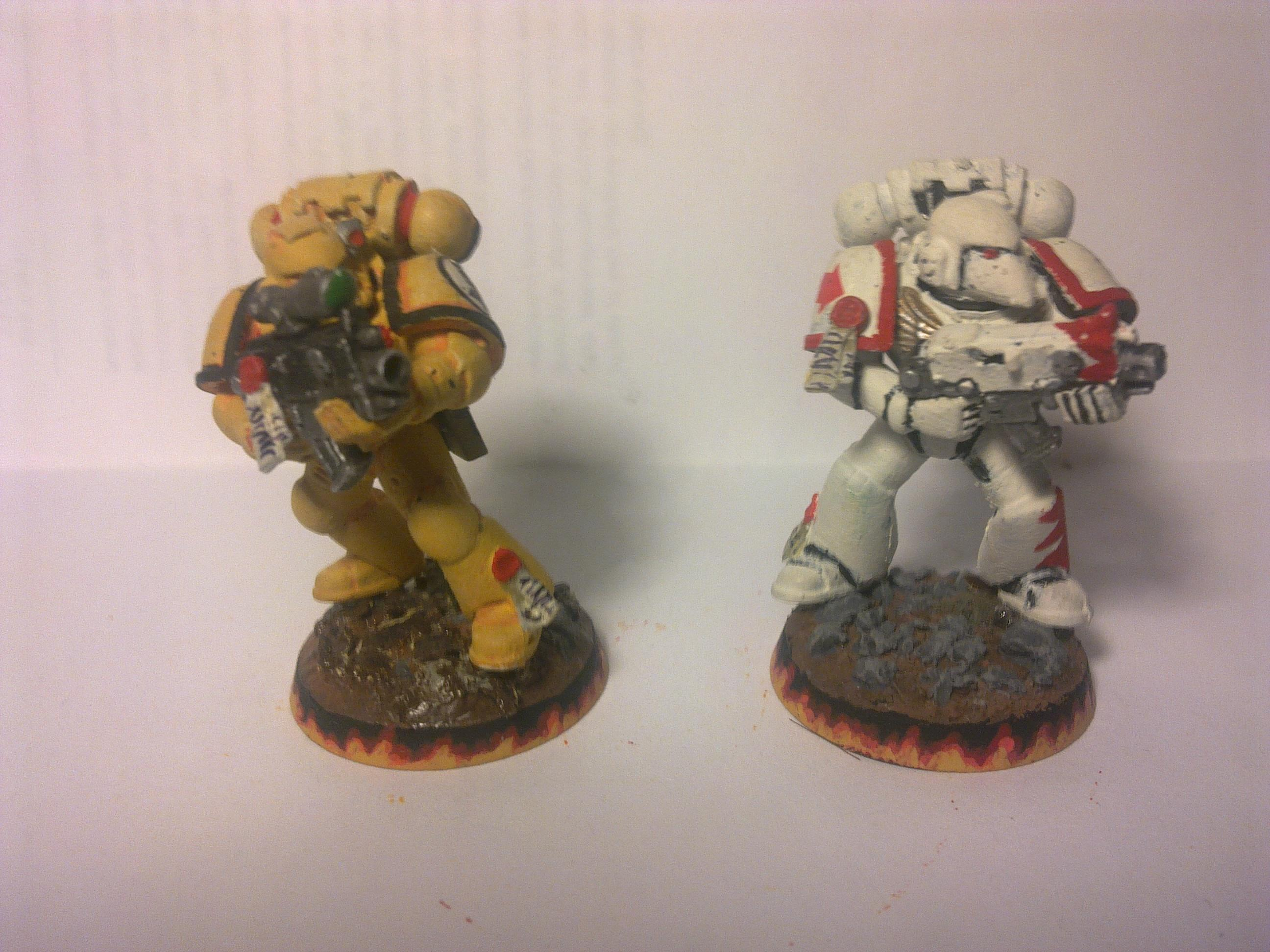 Imperial Fists, Spacemarine, Warhammer 40,000, White Scar