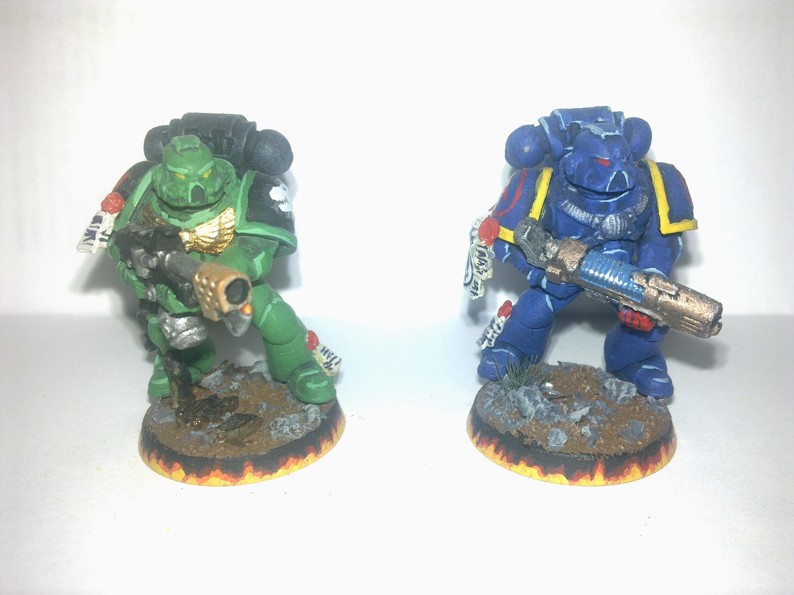 Crimson Fist, Salamander, Spacemarine, Warhammer 40,000