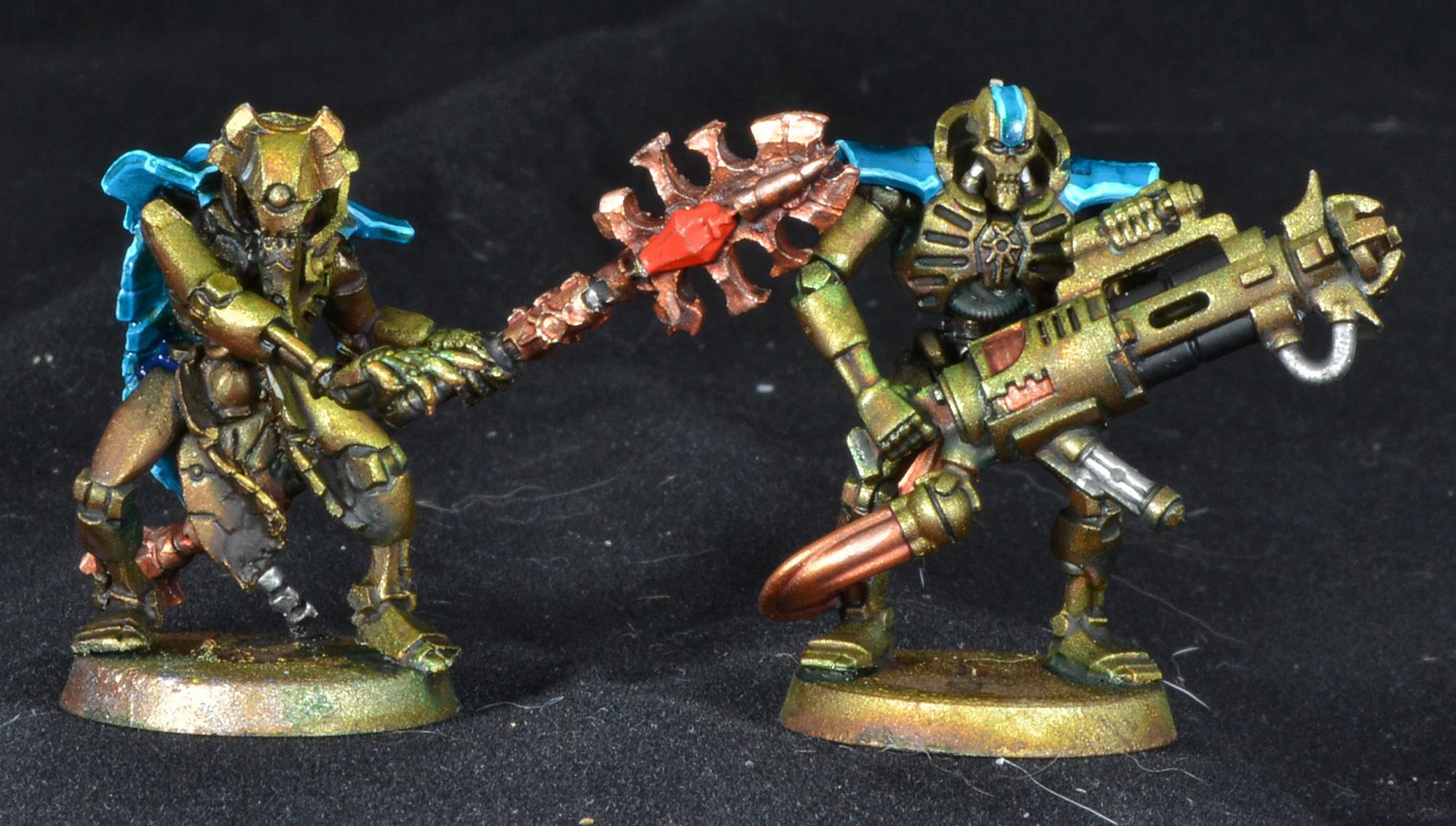 Immortals, Necrons, Warhammer 40,000, Work In Progress