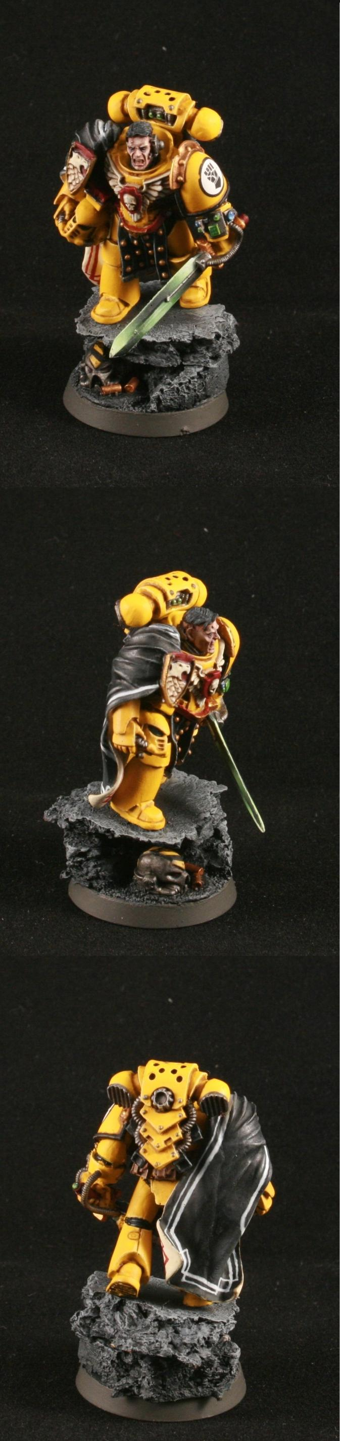 Captain, Forge World, Imperial Fists, Mkiv Armor, Space Marines