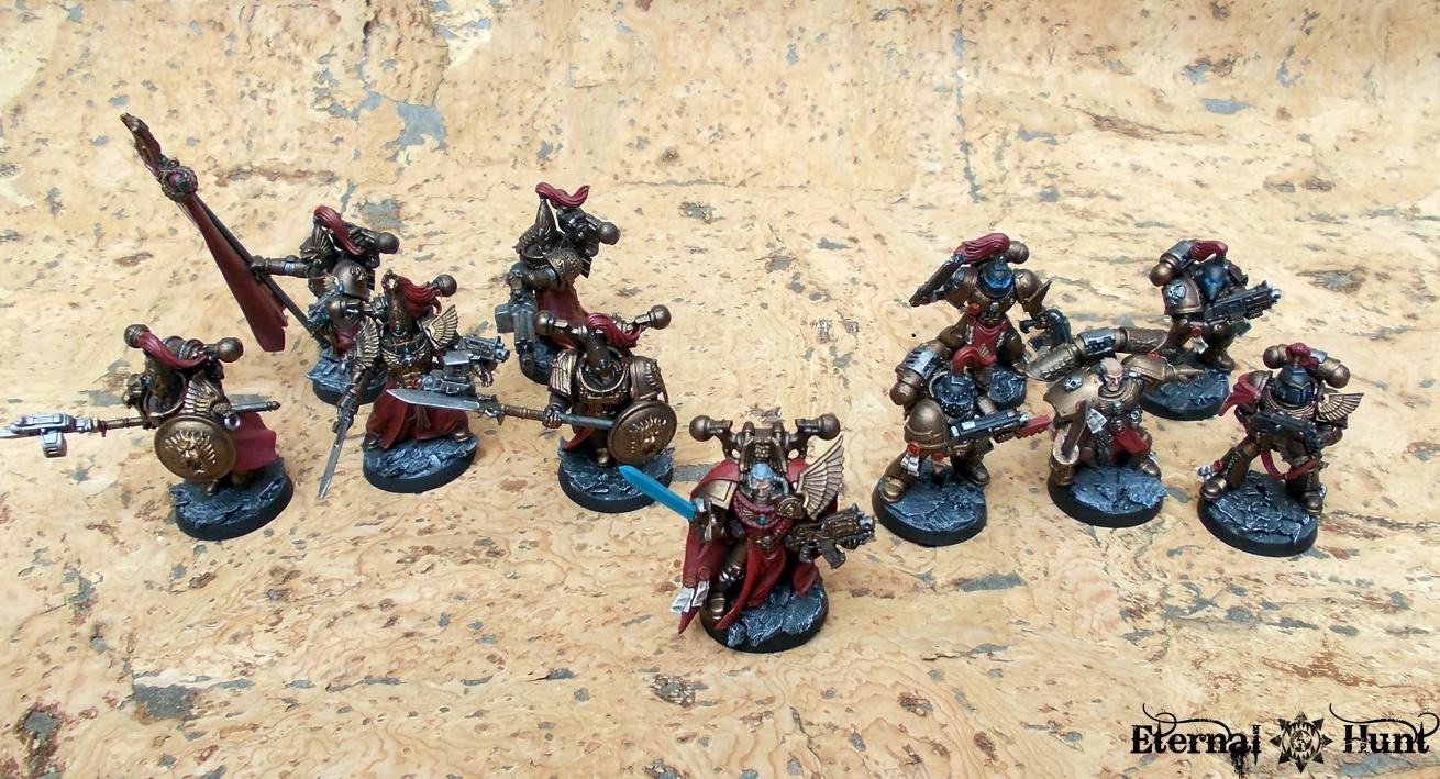 Adeptus Custodes, Conversion, Custodes, Legio Custodes, Paintjob, Praetorians, Shield Captain, Space Marines, Warhammer 40,000