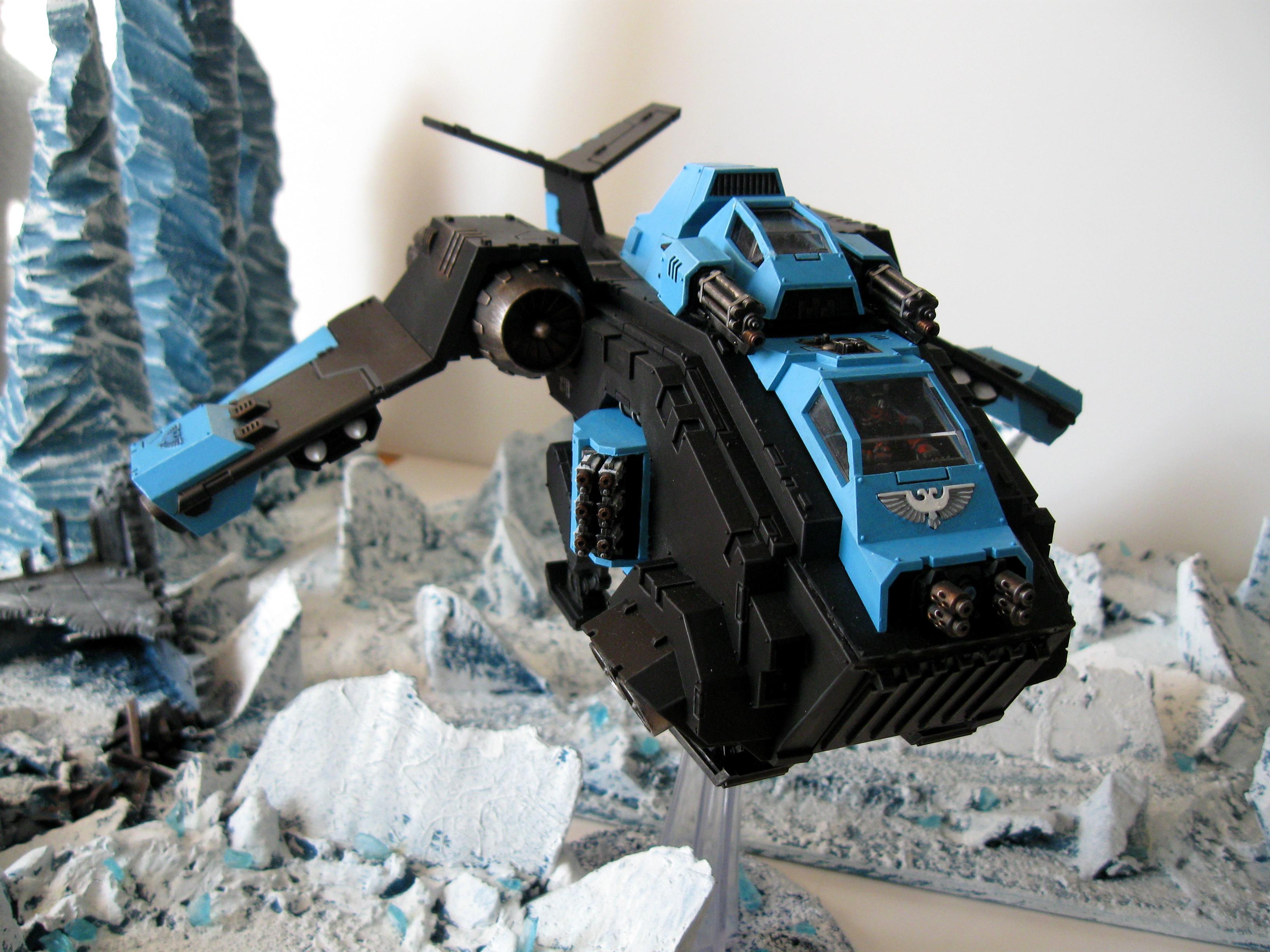 Chibi Hawk, Ice Angels, Ice Terrain, Raven, Stormraven, Warhammer 40,000