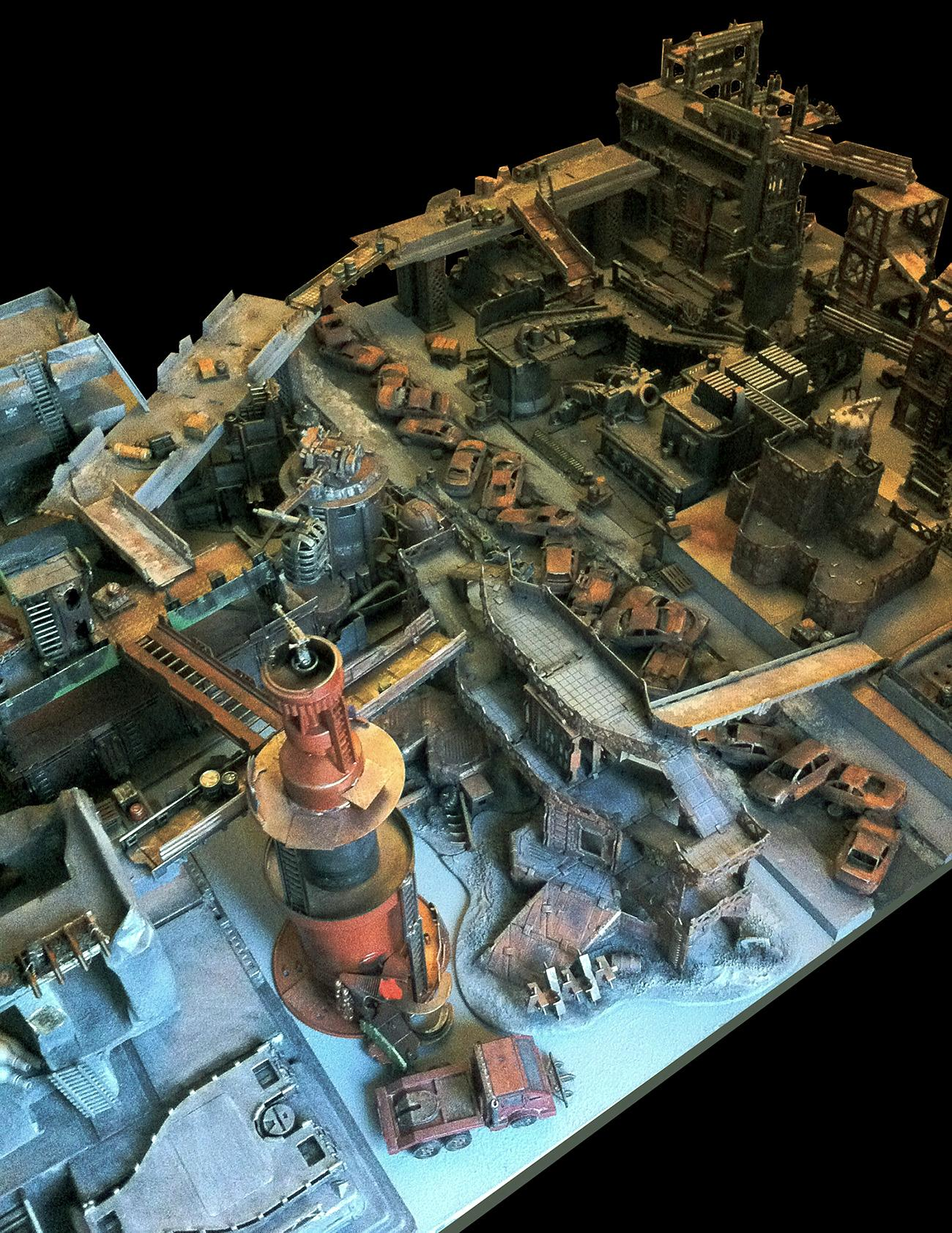 Battle, Board, Cities Of Death, Game Table, Gaming Board, Necromunda, Terrain