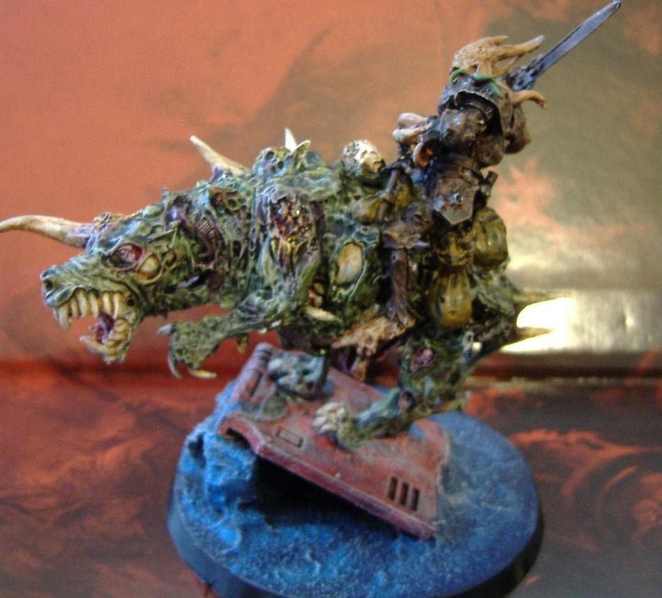 Chaos Lord, Death Guard, Nurgle, Palanquin