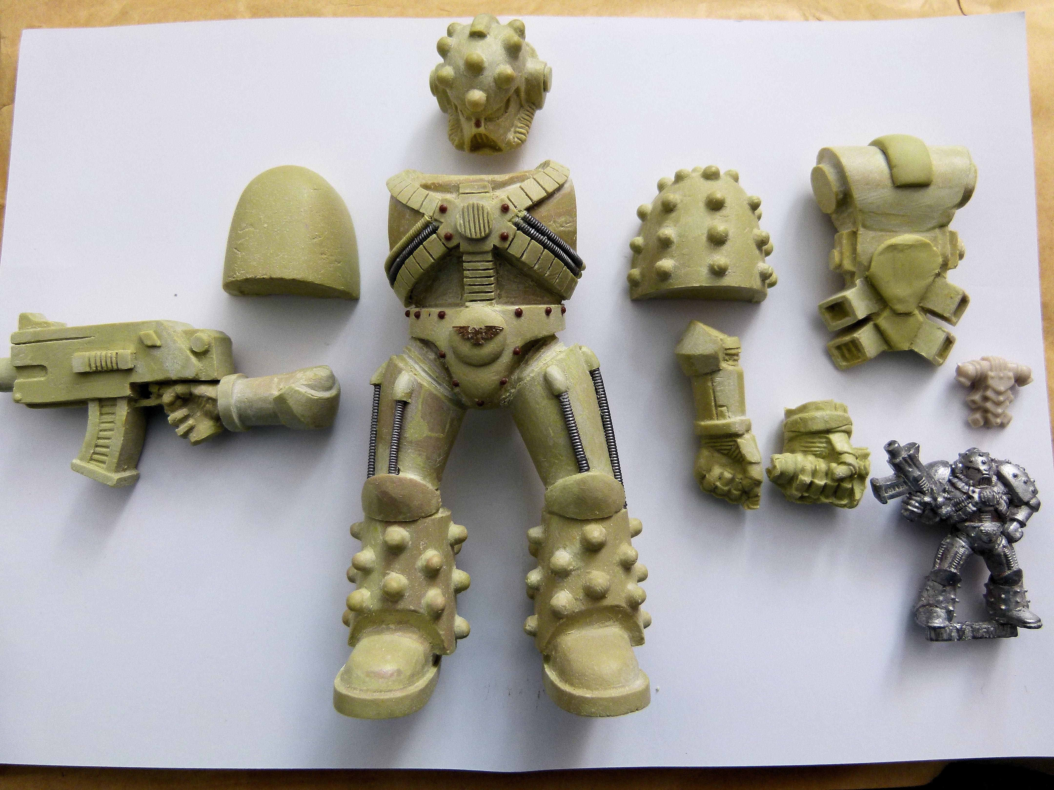 Action Figure, Big, Mk5, Space Marines