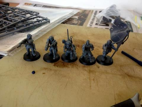 Imperial Guard, Platoon Command Squad, Work In Progress