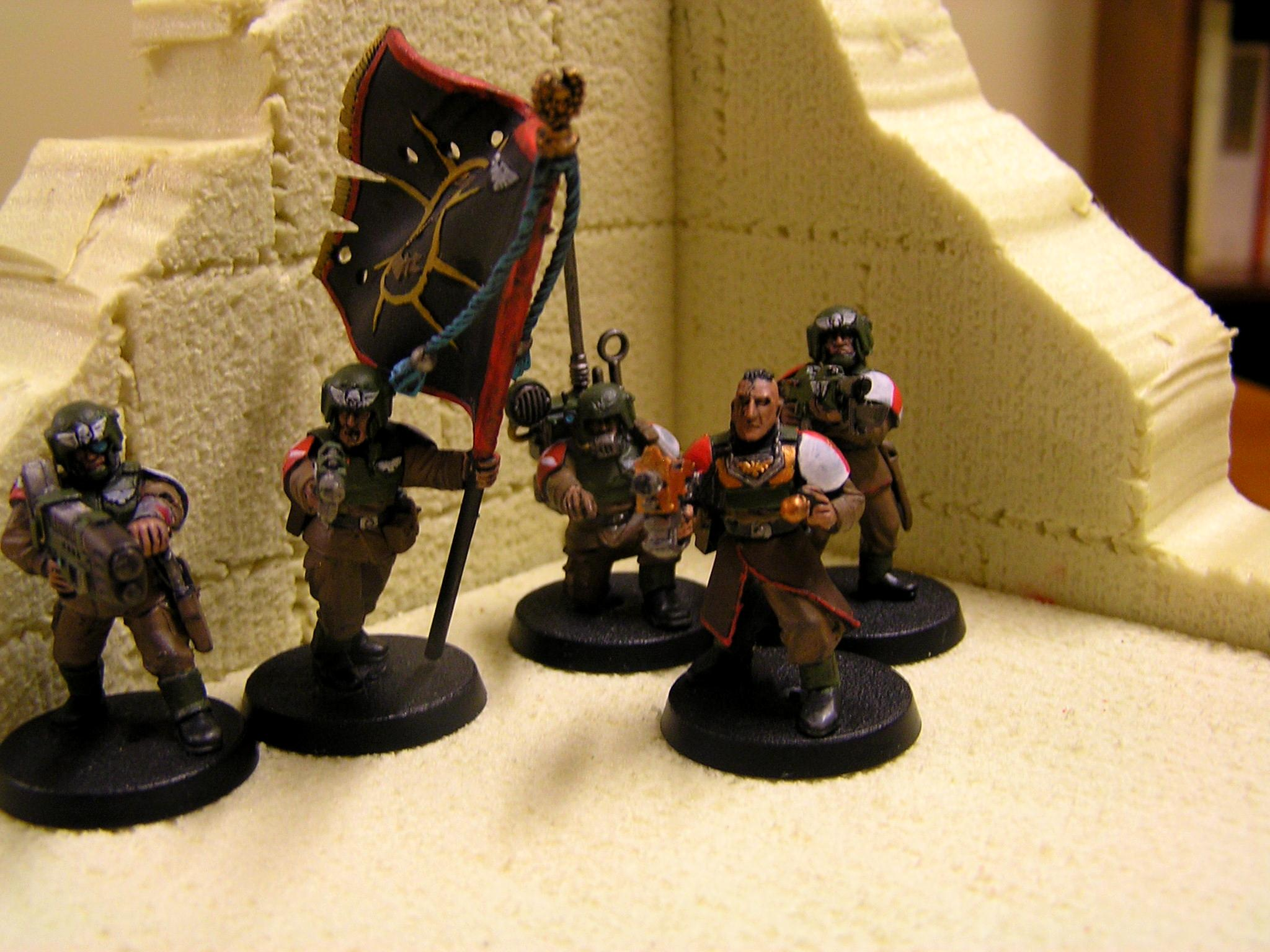 Cadians, Imperial Guard, Platoon Command Squad