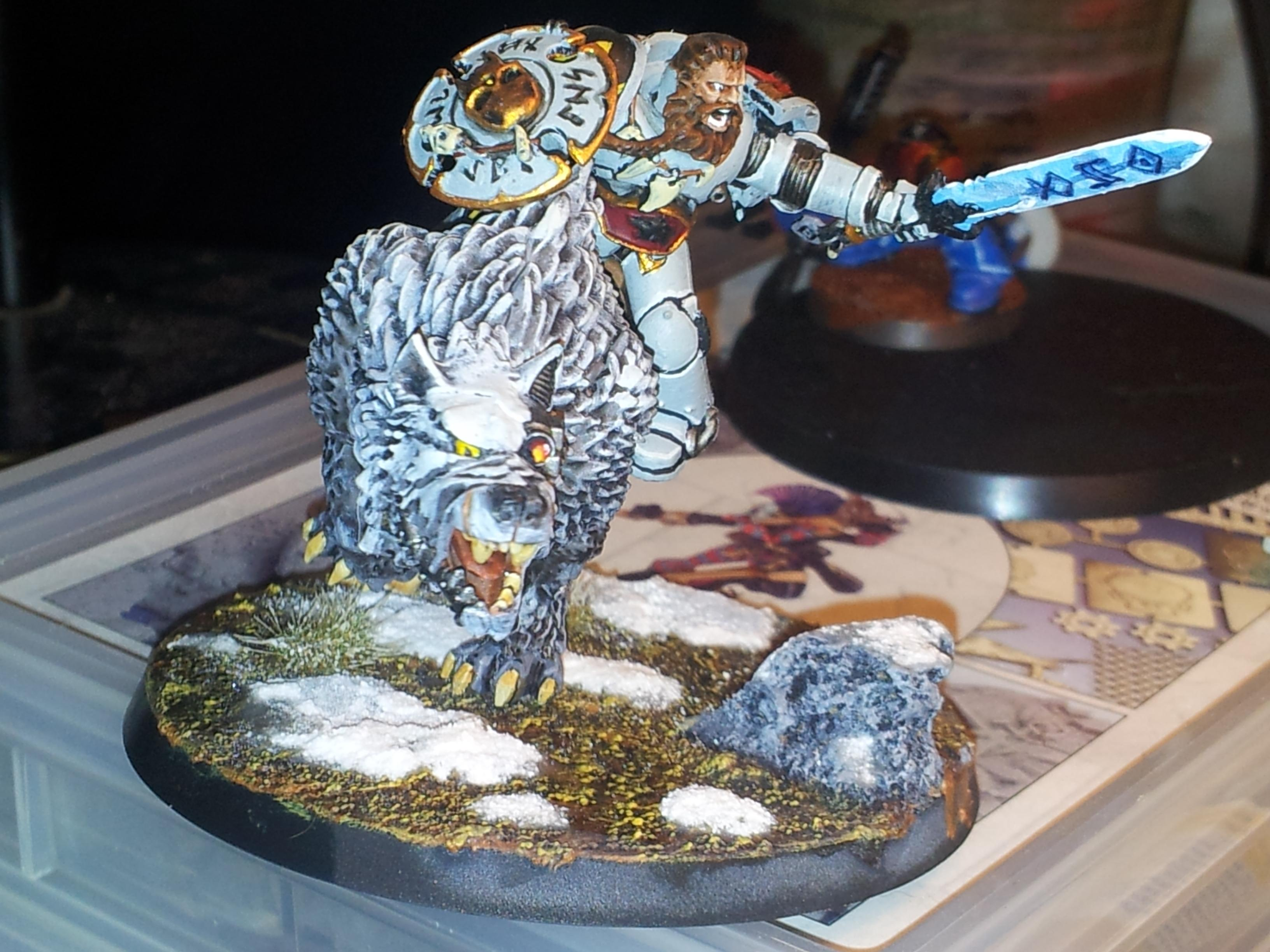 Wolf Lord with frost blade on thunderwolf