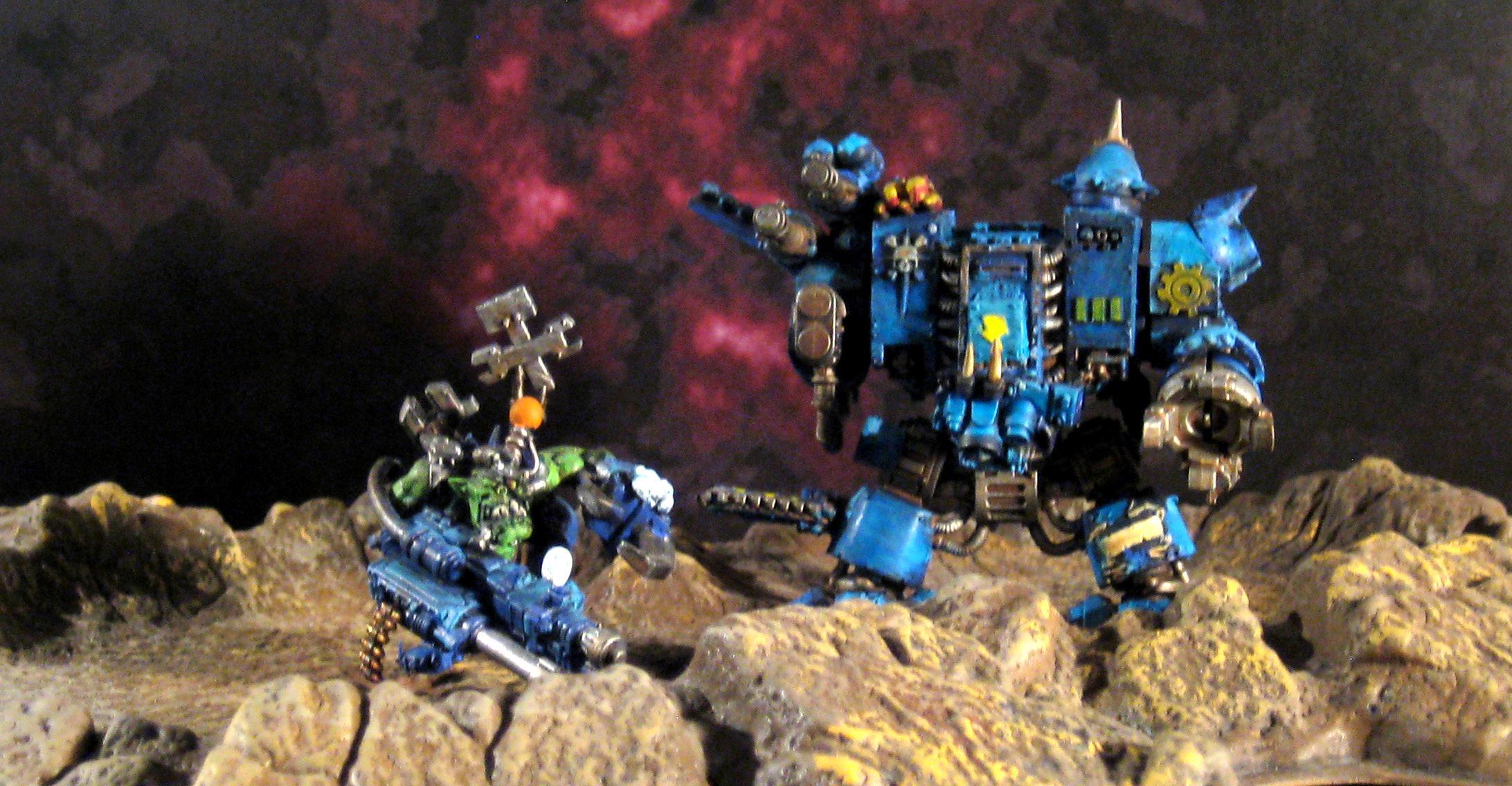 Big Mek, Conversion, Deathskulls, Deff Dread, Orks, Power Claw, Shoota-scorcha Kombi-weapon