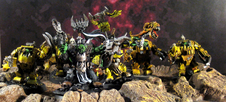 Bad Moons, Conversion, Meganobz, Orks, Warboss