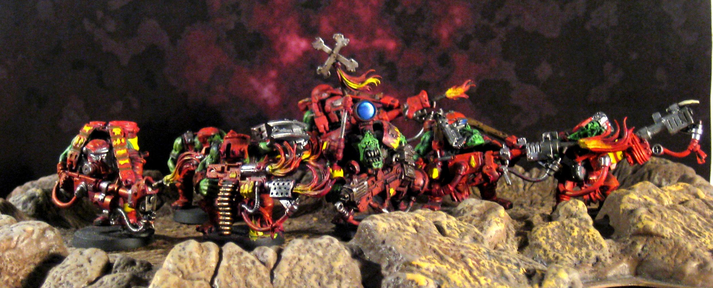 Burnas, Conversion, Evil Suns, Flames, Mekboy, Orks
