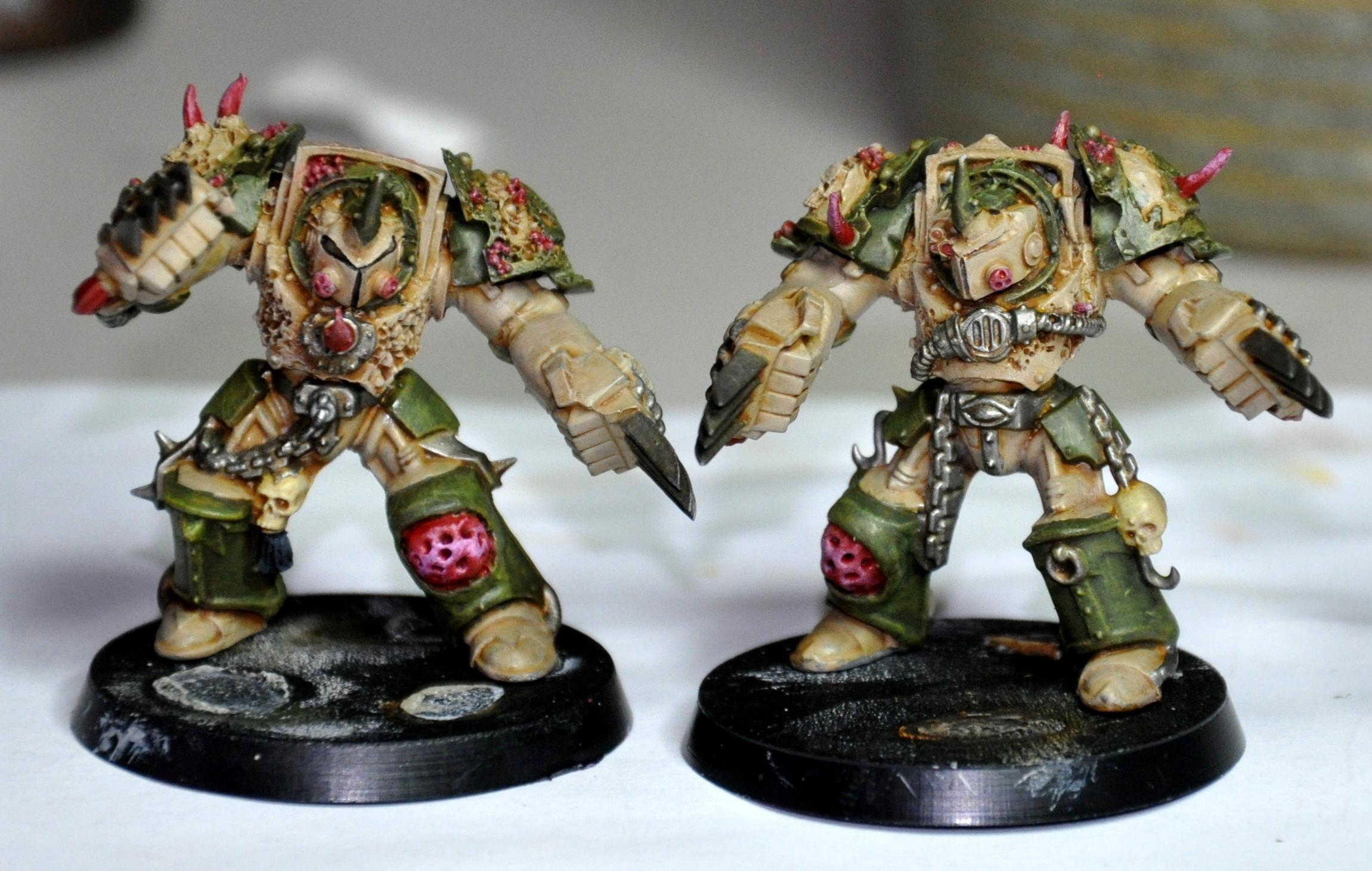 Chaos, Death Guard, Lightning Claws, Nurgle, Space Marines, Terminator Armor, Typhus