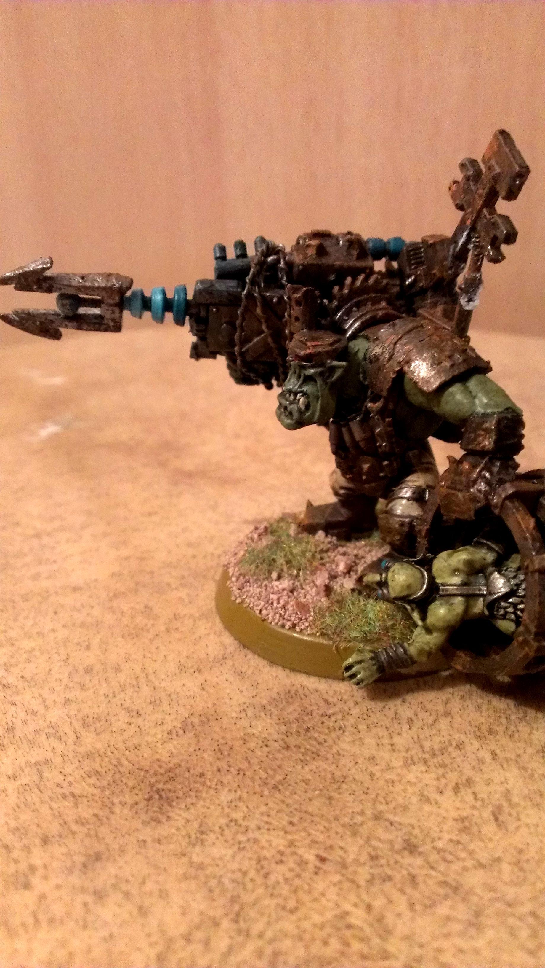 Big Mek, Conversion, Custom Big Mek, Kustom, Orks, Shokk Attack Gun