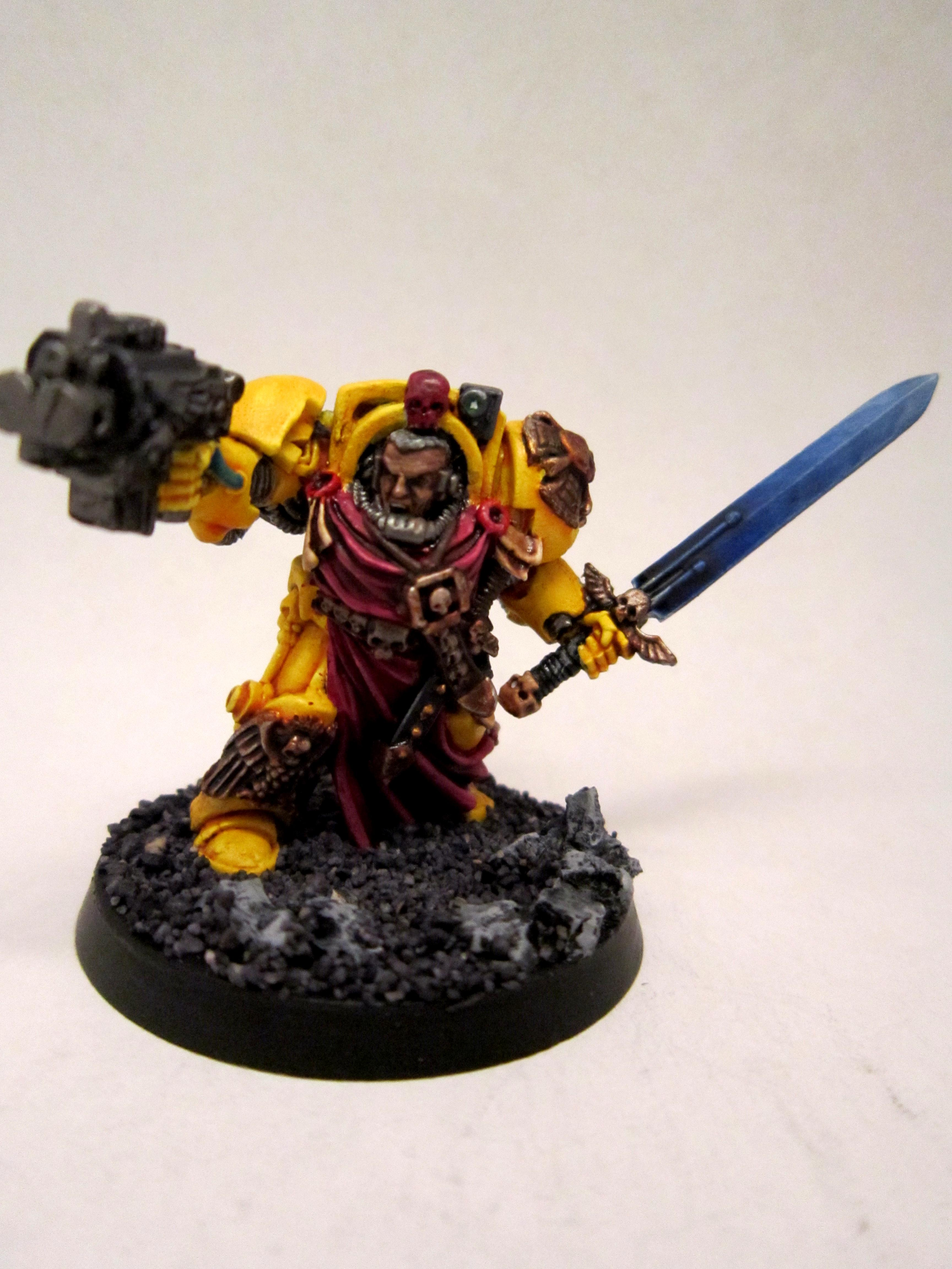 Captain, Imperial Fists, Terminator Armor, Yellow