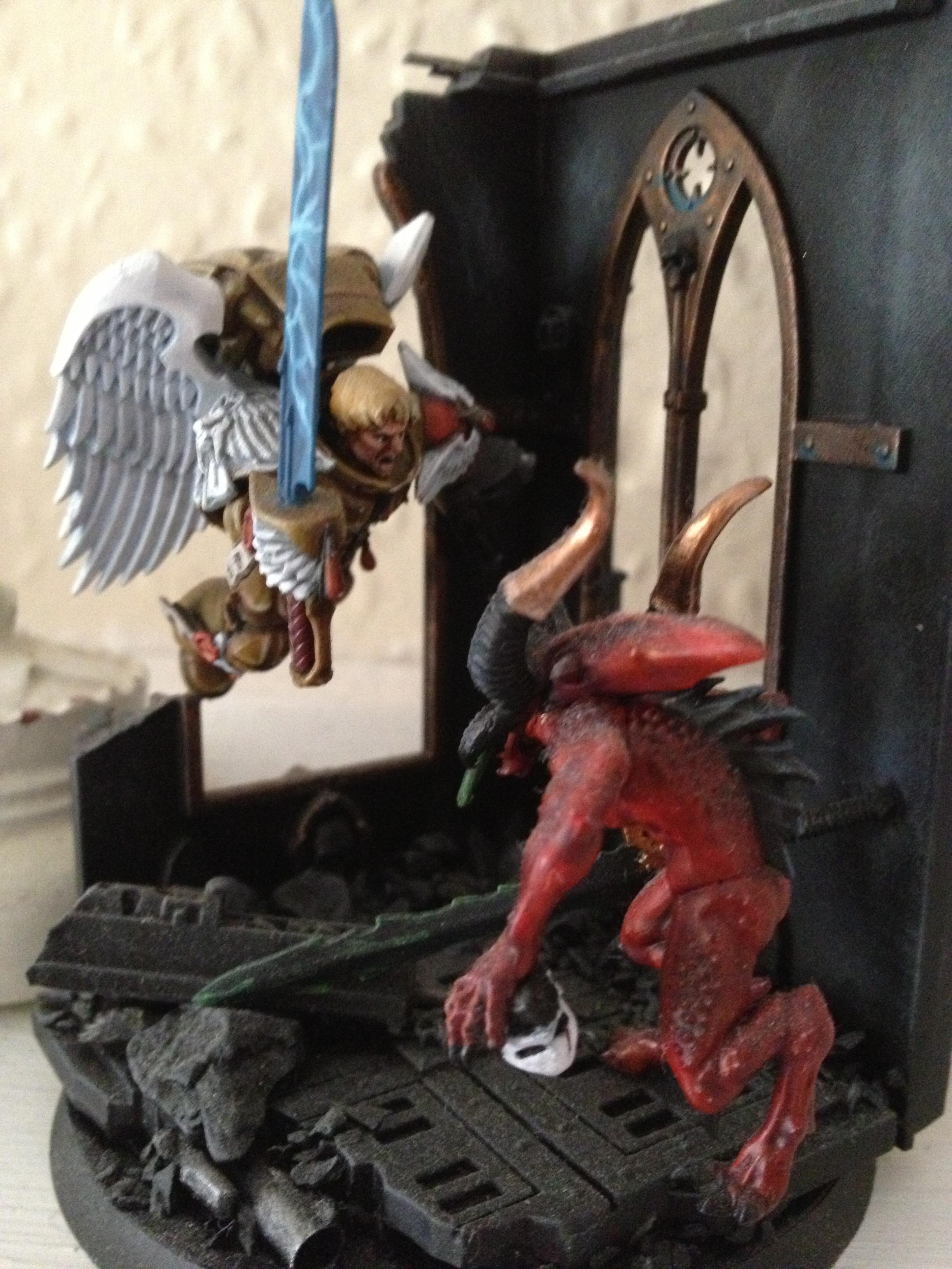 Blood Angels, Bloodletters, Daemons, Diorama, Sanguinary Guard