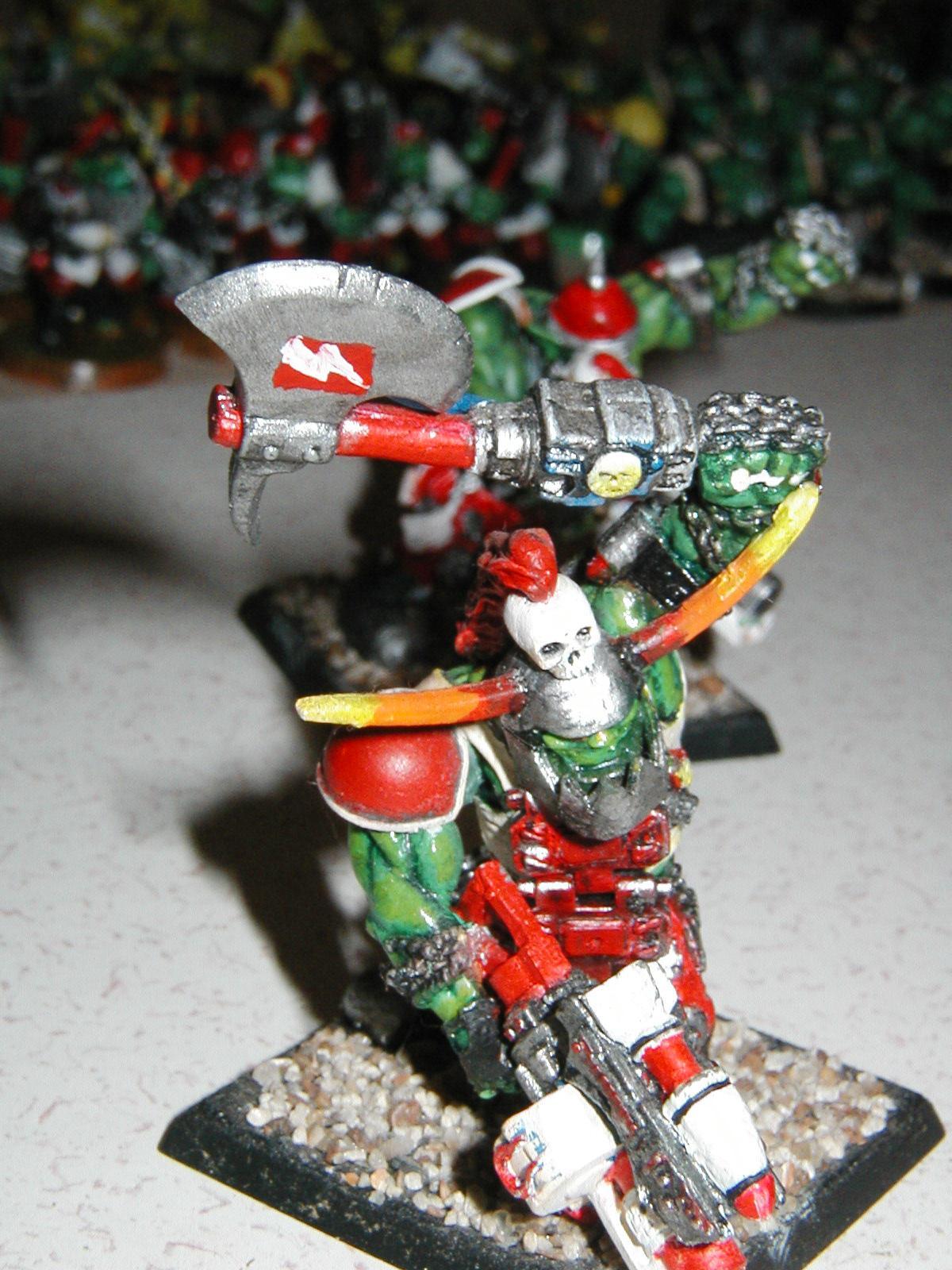 Orks, Nob bodyguard, converted ogryn model