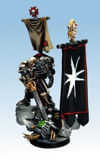 Black Templars, Emperor's Champion, Finished, Layering, Necrons, Non-Metallic Metal, Rock Base, Space Marines, Warhammer 40,000, Weathering Powder