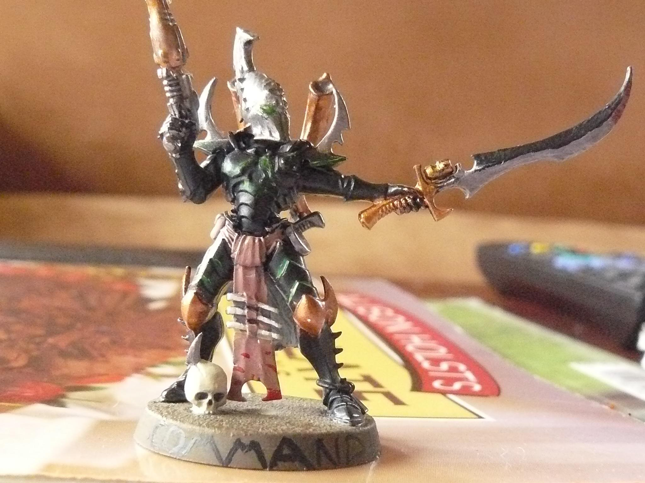 Bob, Commander, Dark Eldar, Sword., Sybarite