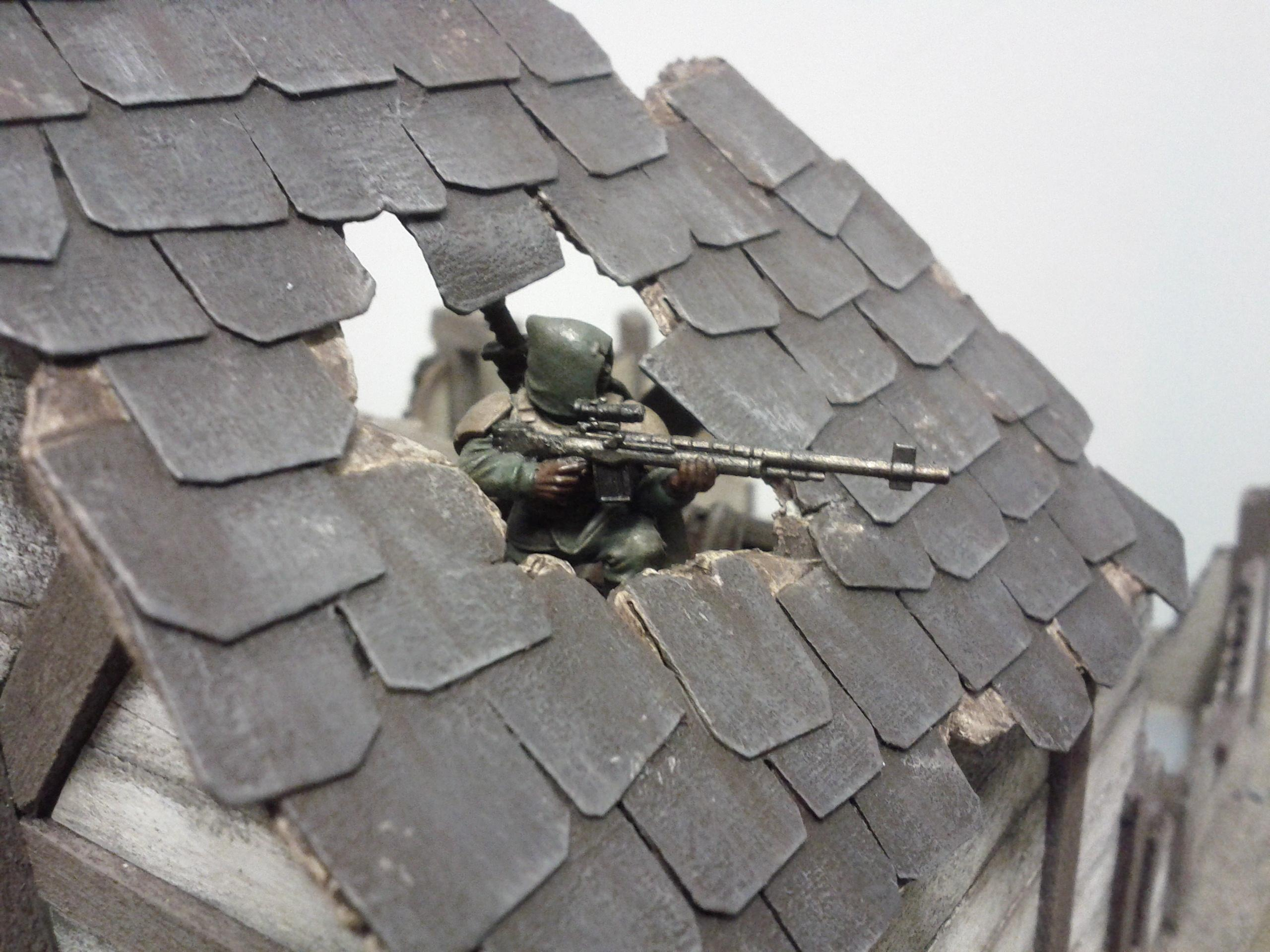 Sniping through roof