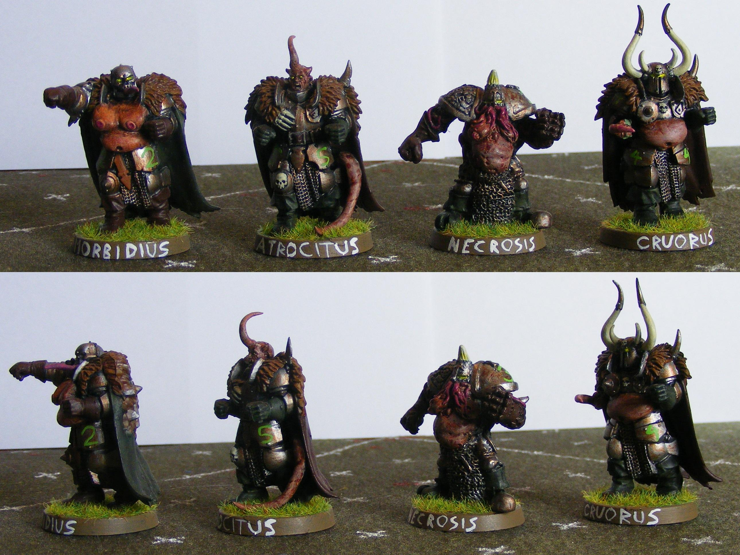 Blood Bowl, Chaos, Nurgle, Warriors