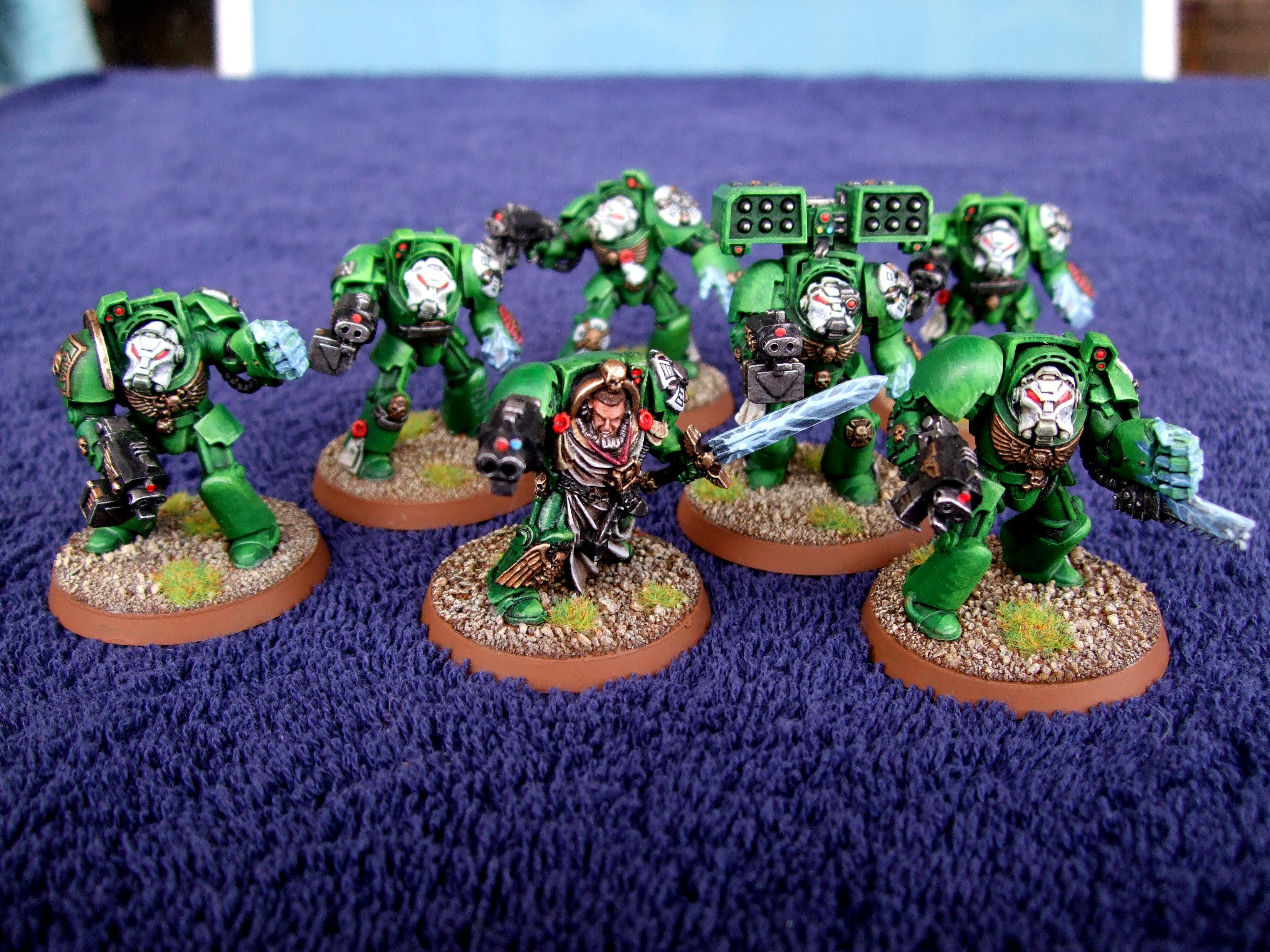 Aurora Chapter, Chainfist, Cyclone Missile Launcher, Space Marines, Tactical Terminators