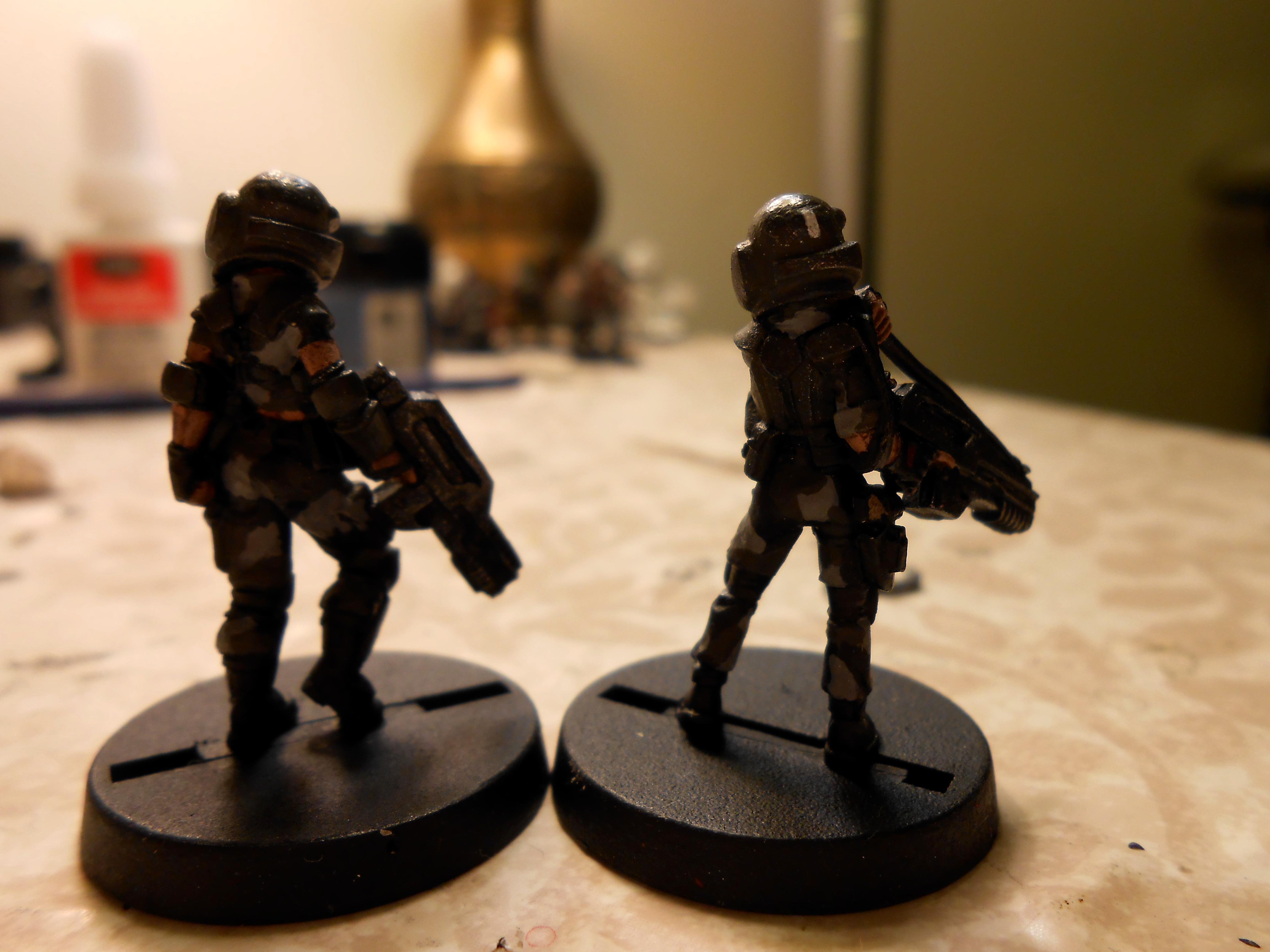 Rear female Guardsmen