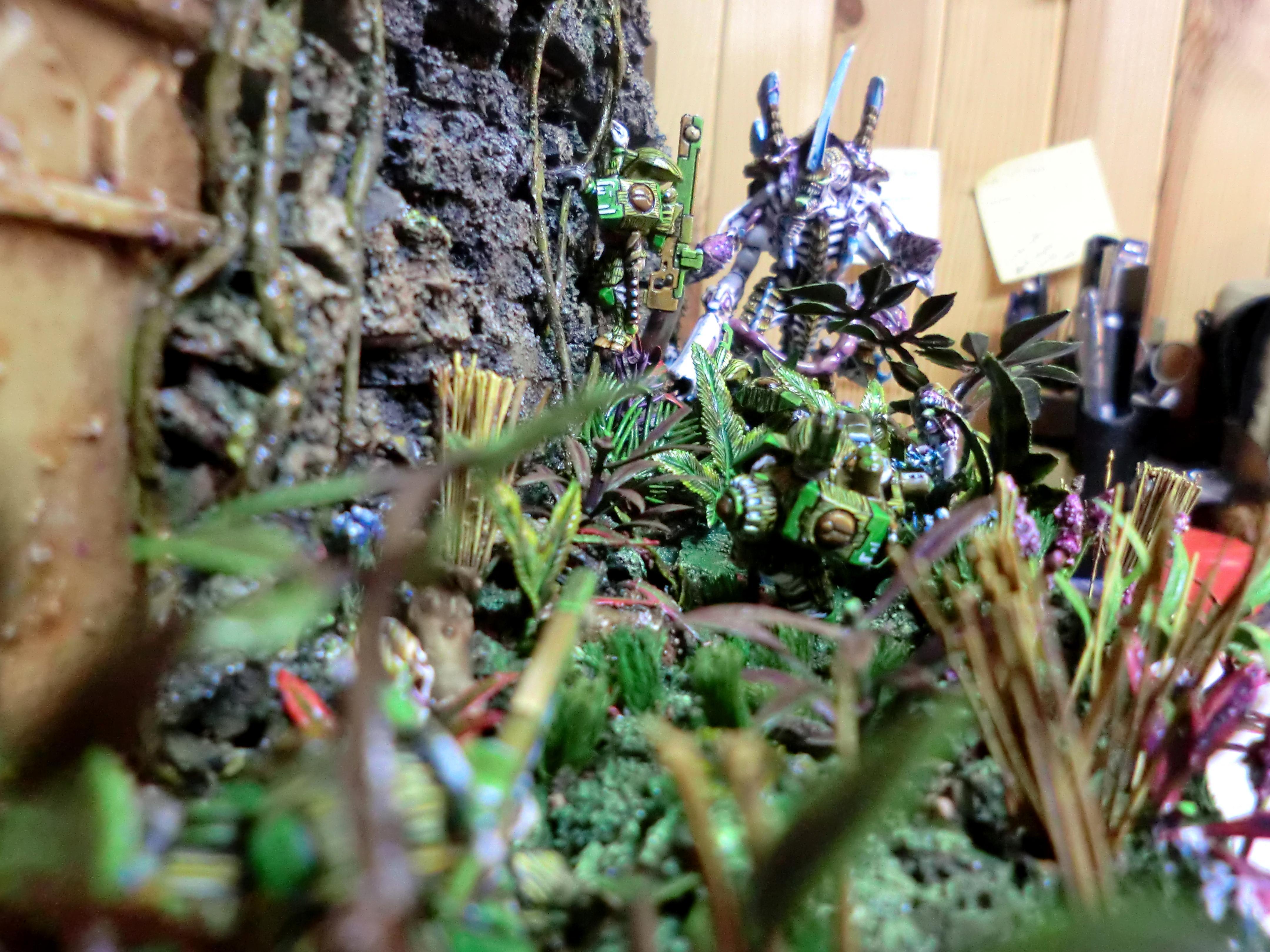Diorama, Golden Demon, Jungle, Tau, Tyranids, Wall, Warhammer 40,000