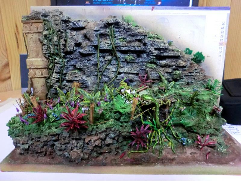 Diorama, Golden Demon, Jungle, Tau, Tyranids, Wall, Warhammer 40,000