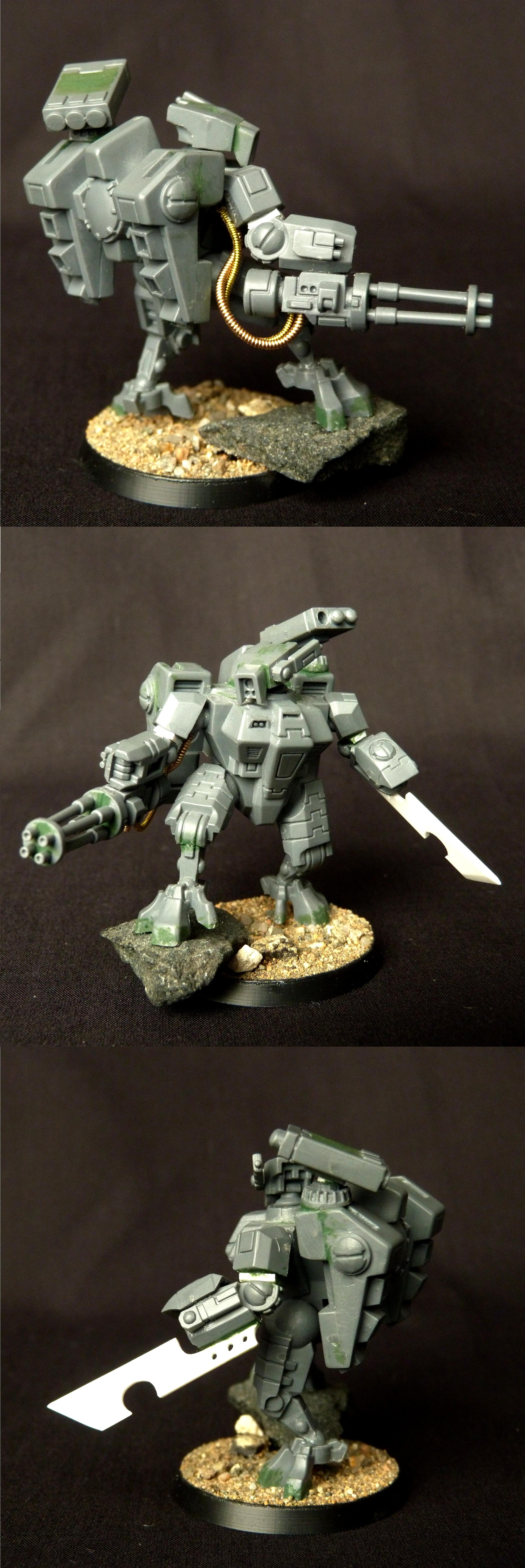 Battlesuit, Conversion, Crisis Battlesuit, Tau, Warhammer 40,000, Work In Progress, XV8