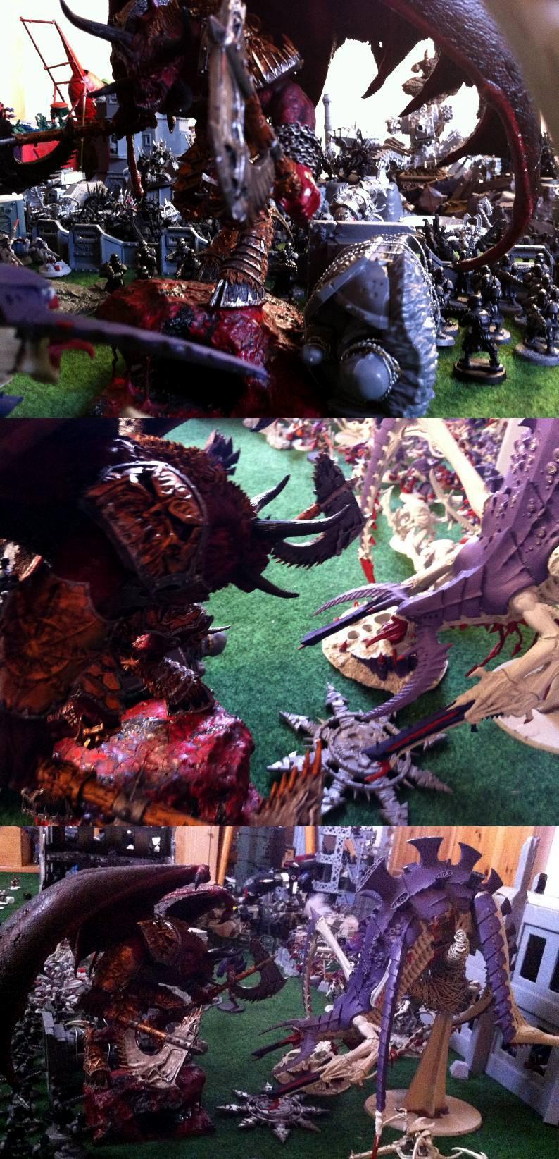 An´ggrath, Anggrath, Apocalypse, Apocalyptical Battle, Battle, Battles, Blood, Bloodthirster, Chaos, Chaos Space Marines, Conversion, Daemons, Demonlord, Exalted Bloodthirster, Exalted Daemon, Exalted Demon, Gargantuan, Gigantic, Greater Daemon, Hierophant, Hive, Iron Warriors, Ka'jagga'nath, Kajagganath, Khorne, Khornelord, Nids, Skarbrand, Storm Of Magic, Titan, Tyranids
