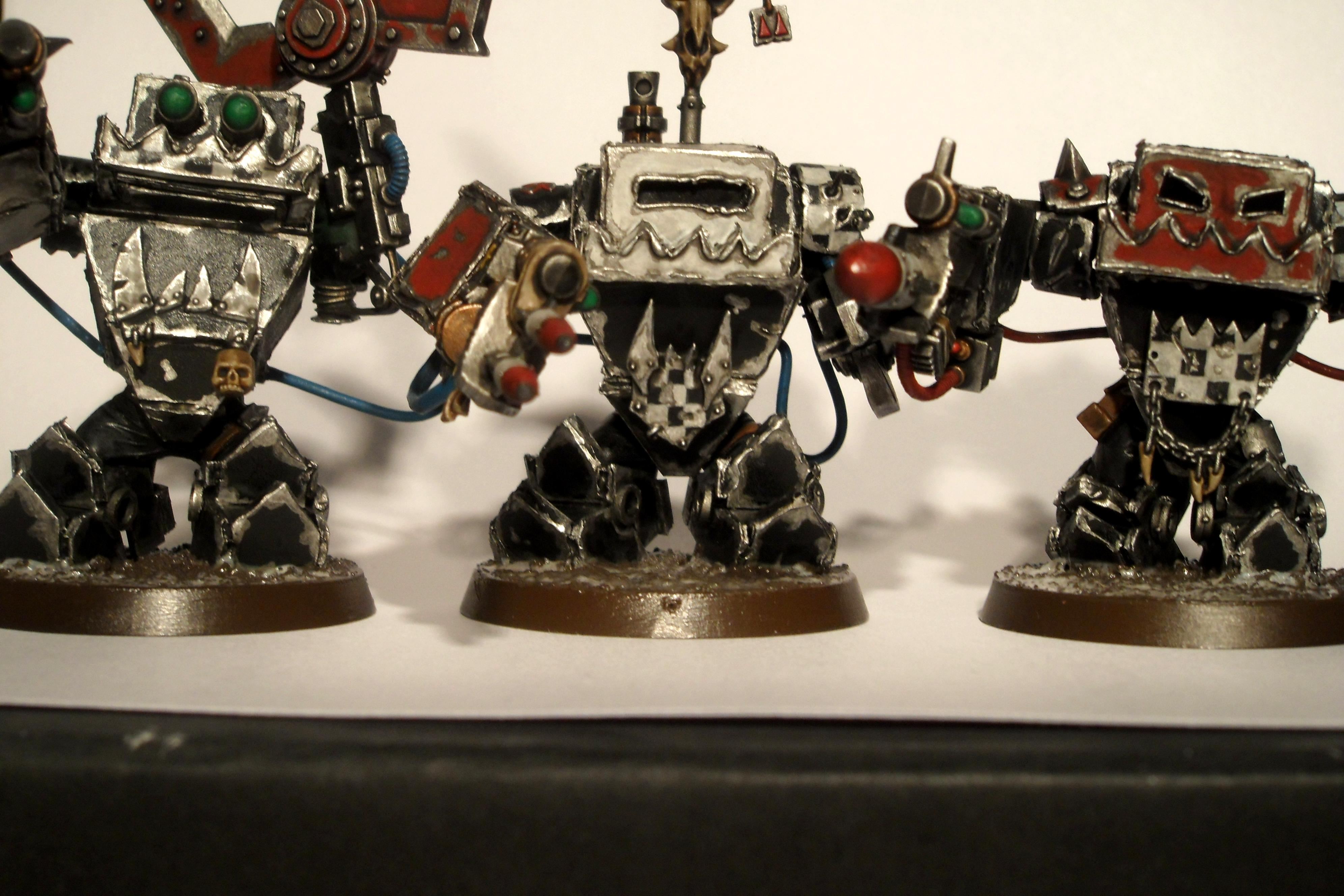 Battlewagon, Conversion, Mega Nobz, Orks, Warhammer 40,000, Weirdboy