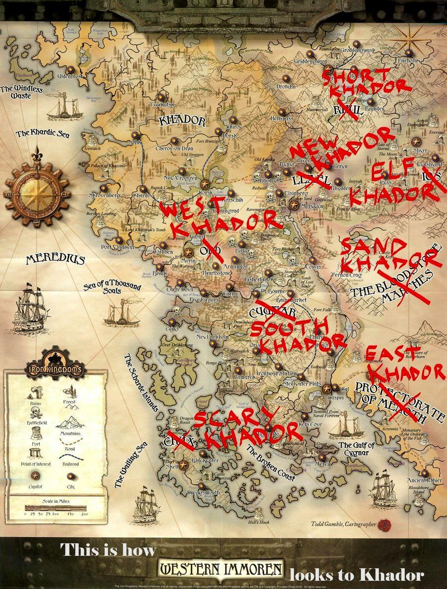 Khador, Map, Warmachine