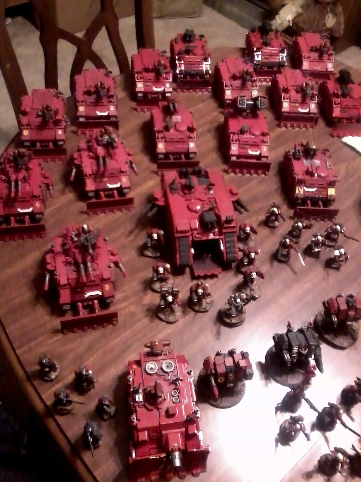 my space marine tanks and dedicated transports