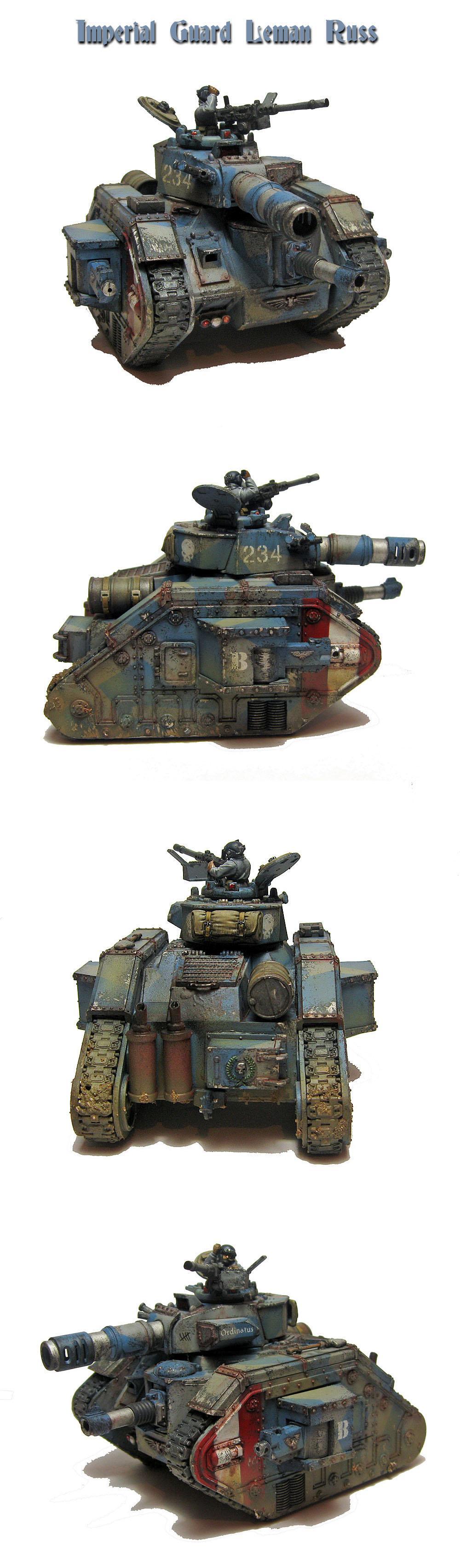 Blue Camo, Leman Russ, Tank, Weathered