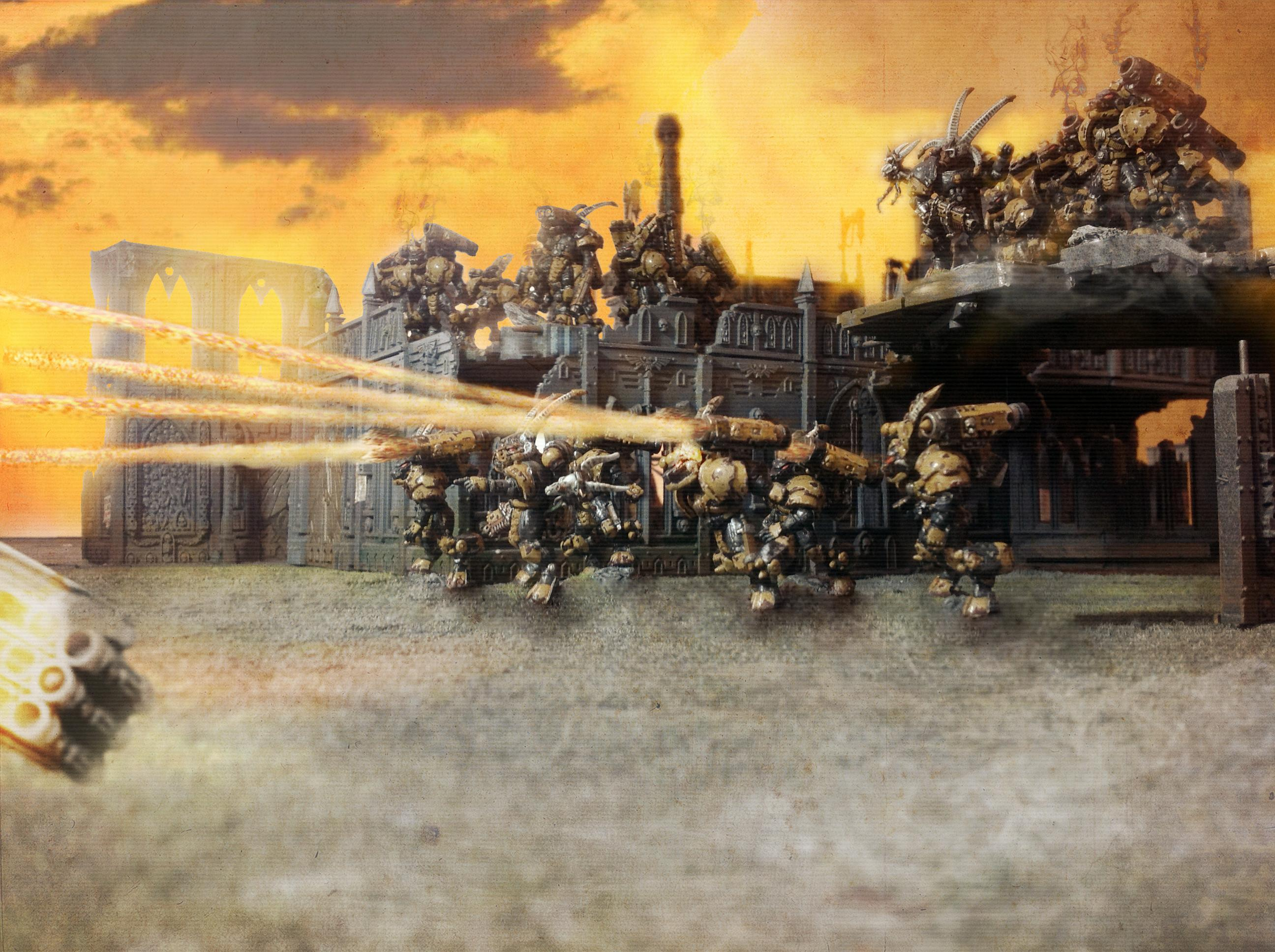 Army, Beast, Beastmen, Fangs, Launcher, Long, Metal, Missile, Space, Space Marines, Warhammer 40,000, Wolf, Wolves