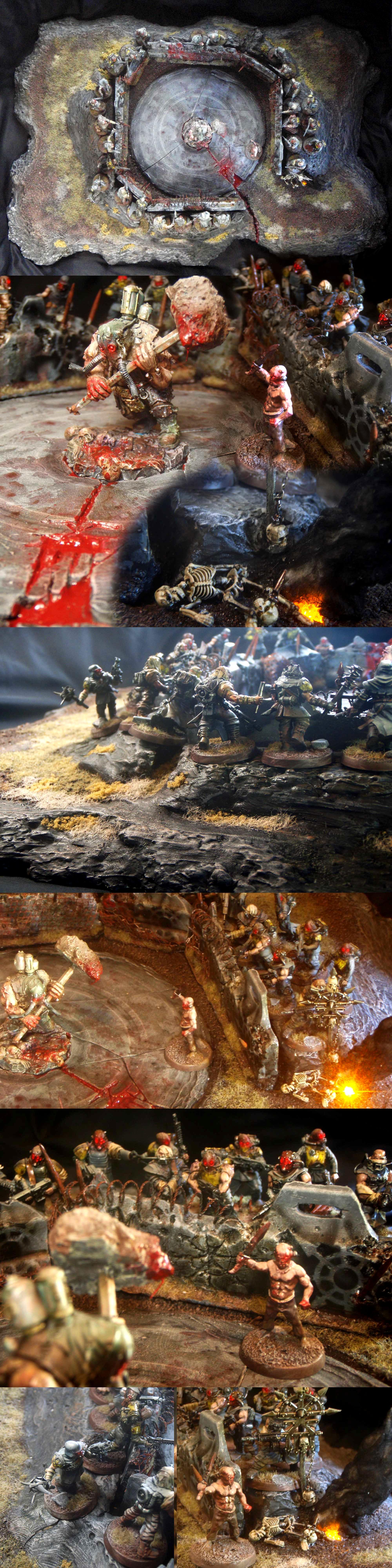 Arena, Blood, Chaos, Cultist, Gladiator, Grimdark, LED, Ogryns