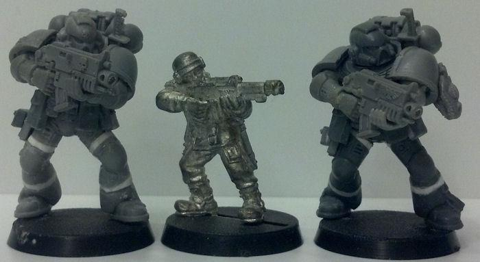 Space Marines, Tall Scale, True Scale