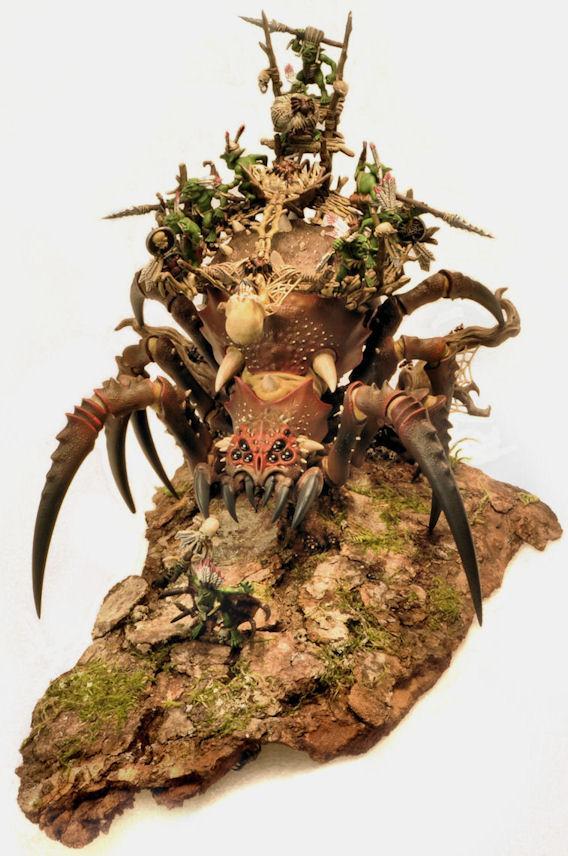 Arachnarok Spider, Brown, Monster, Orcs And Goblins, Warhammer Fantasy