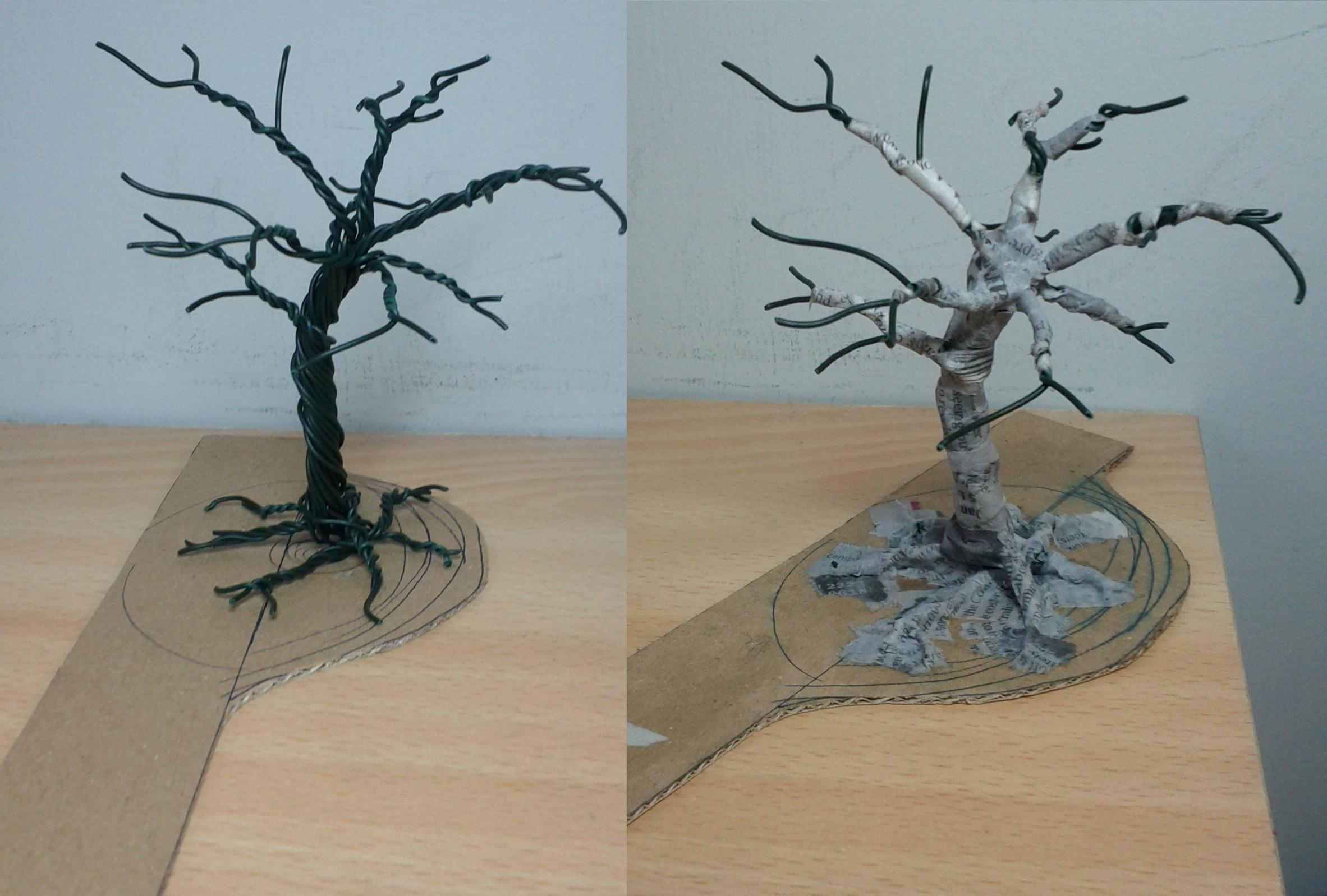 Tree WIP wire/paper