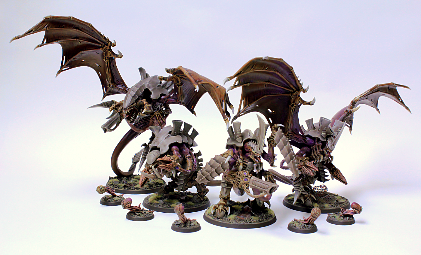 Carnifex, Conversion, Flyrant, Harpy, Hive Tyrant, Spore Mines, Twin Linked Devourers