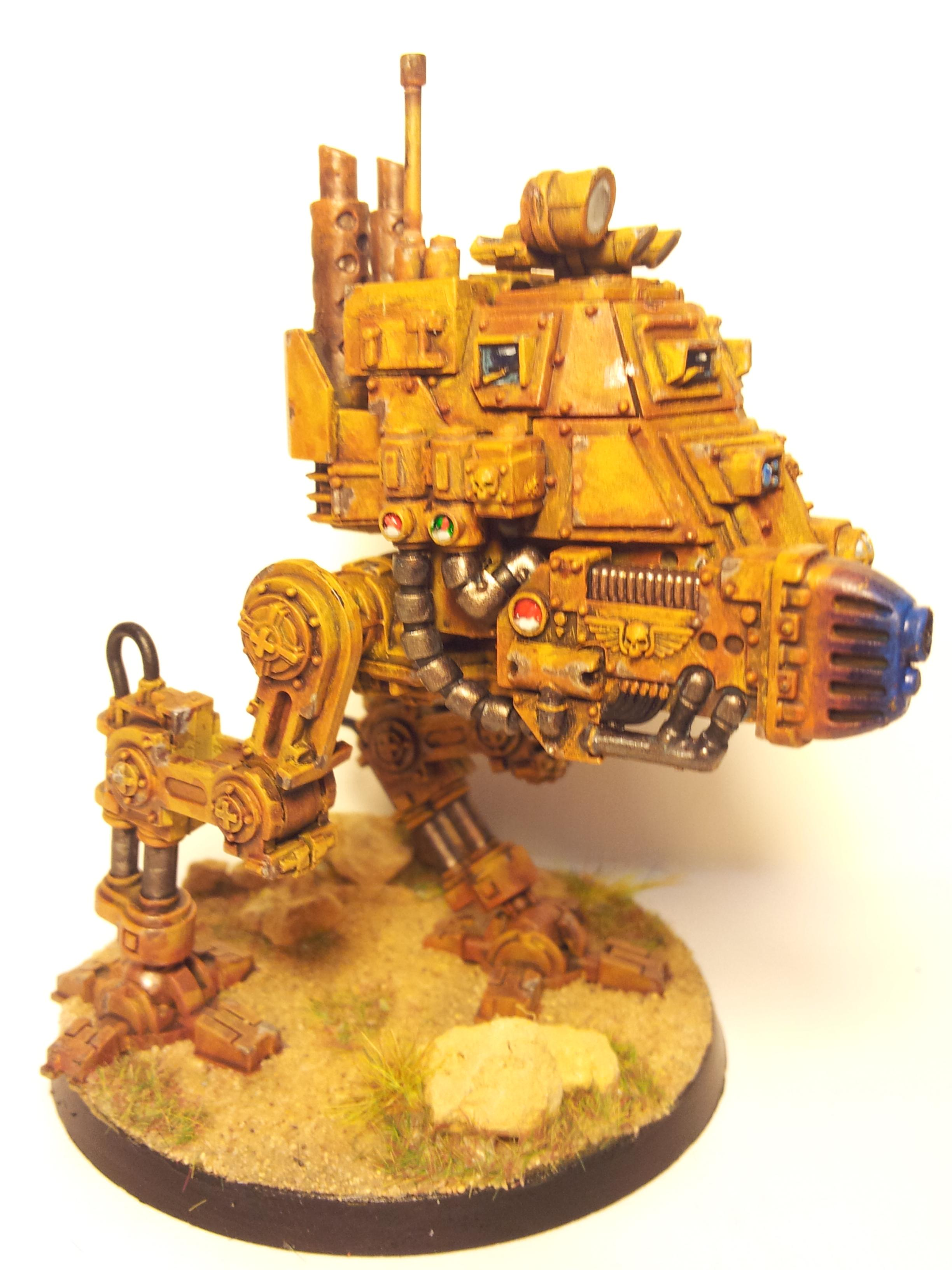 Armored, Armoured, Desert, Imperial Guard, Ochre, Rusty, Sand, Scratched, Sentinel, Weathered, Worn