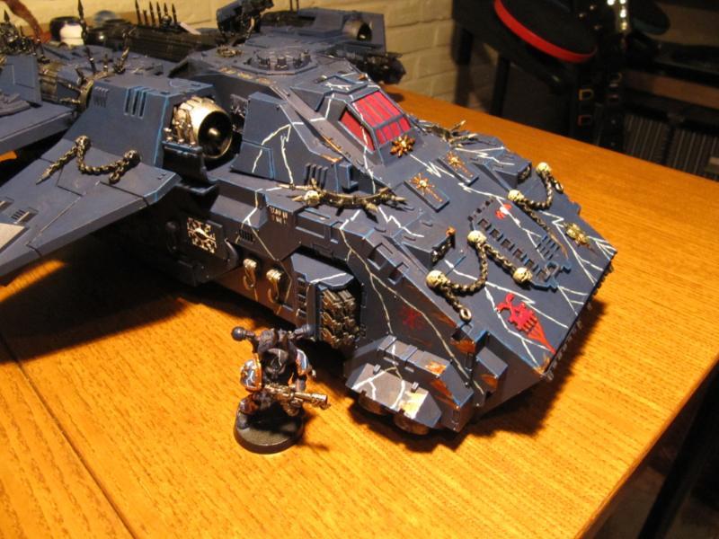 Chaos Space Marines, Conversion, Flyer, Horus Heresy, Night Lords, Stormbird, Thunderhawk, Traitor Marines, Work In Progress