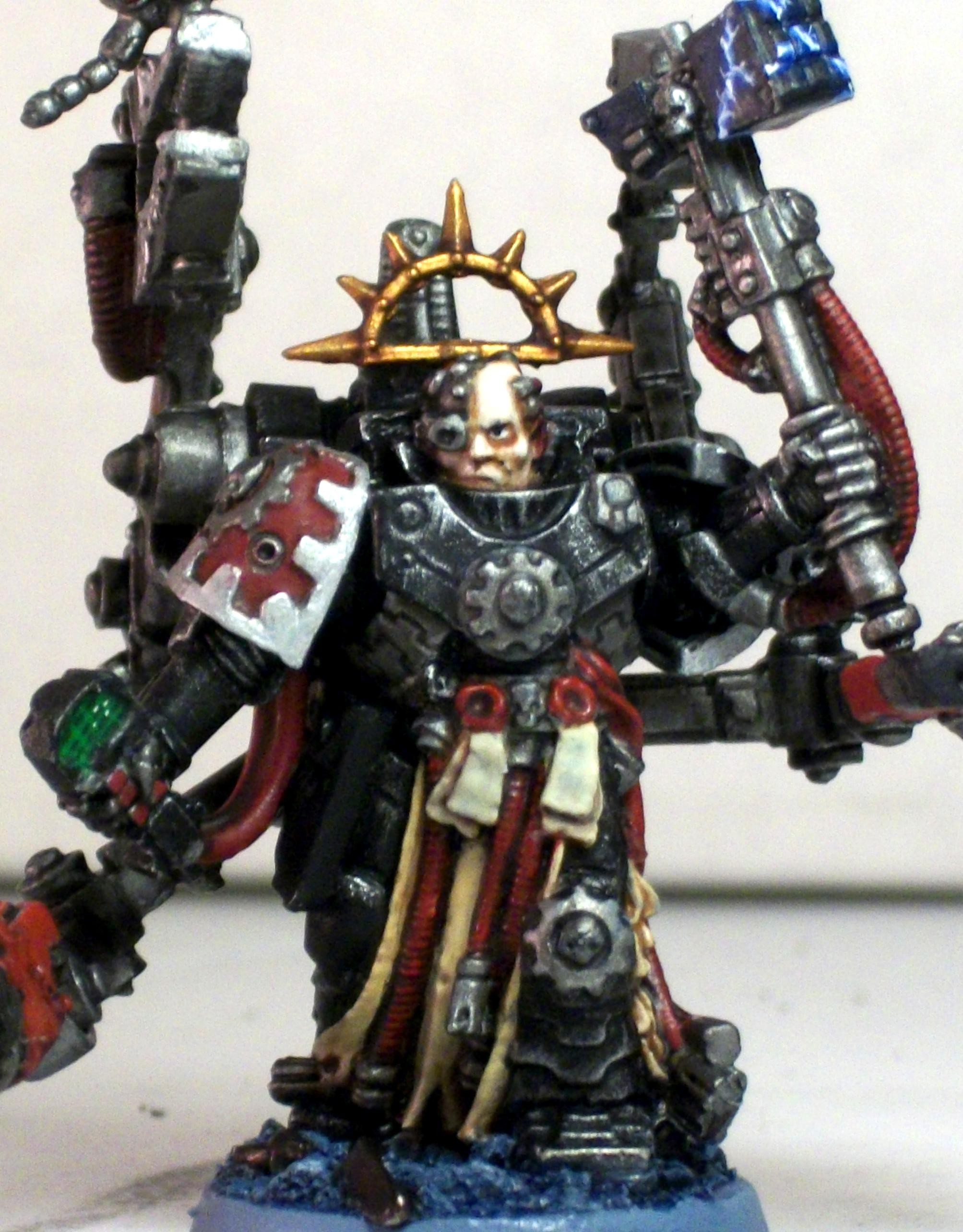Harness, Iron Father, Iron Hands, Master Of The Forge, Servo, Space Marines, Techmarine, Vaylund Cal