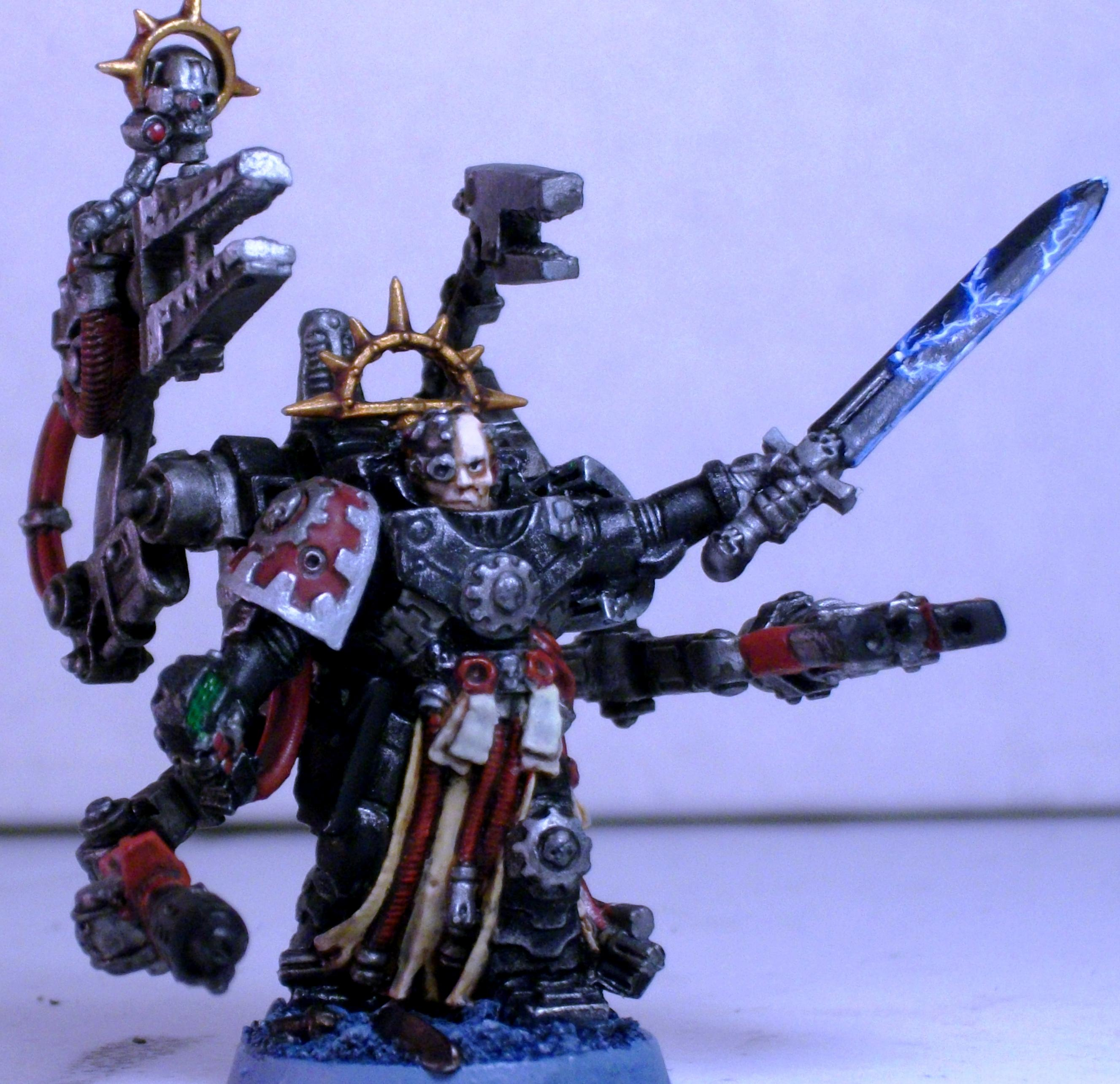 Harness, Iron Father, Iron Hands, Master Of The Forge, Servo, Space Marines, Techmarine
