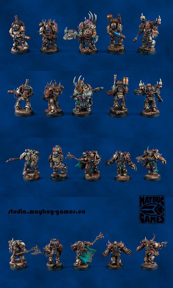 Chaos Space Marines, Chosen, Death Guard, Nurgle