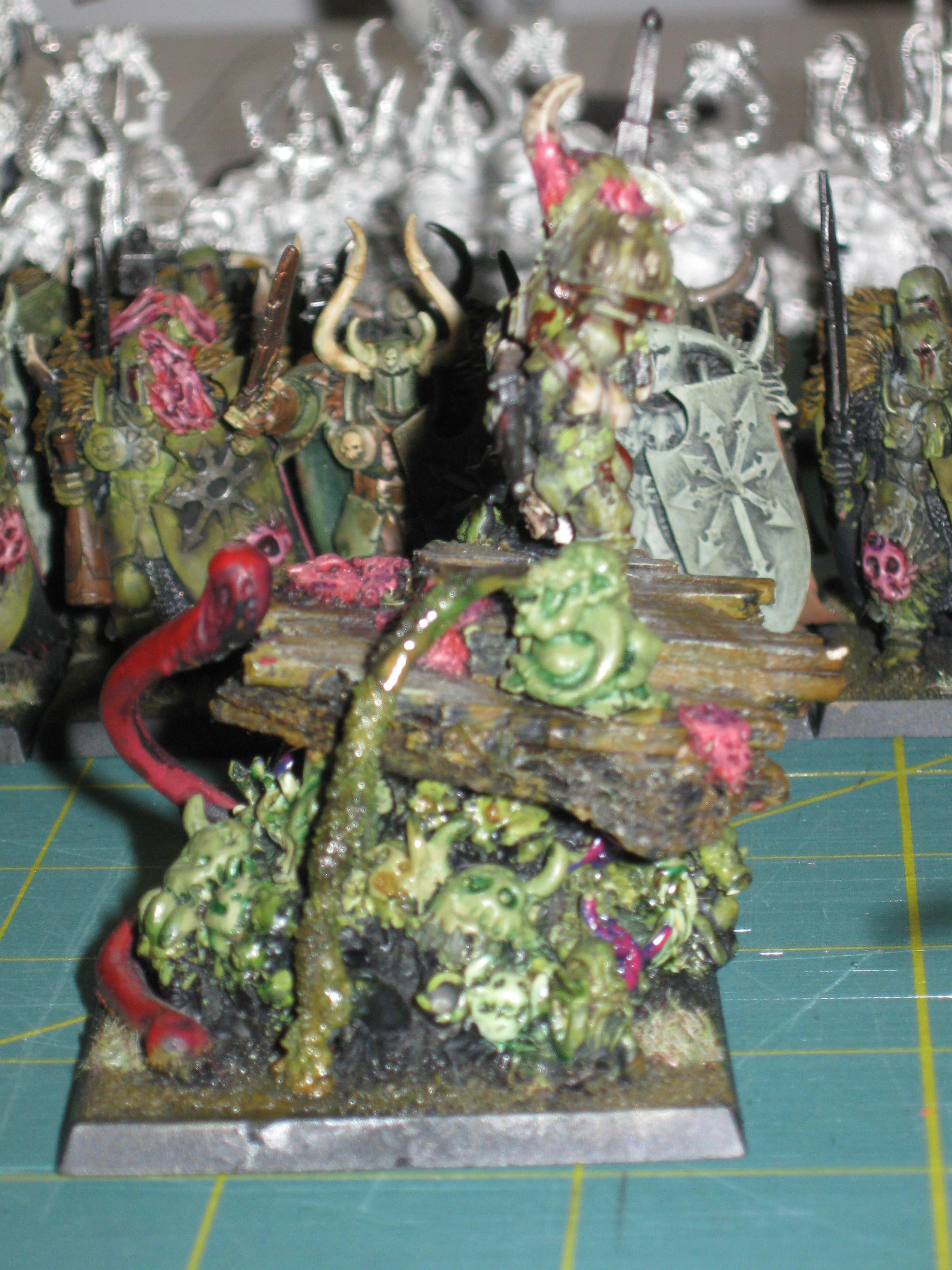 Army, Battle, Chaos, Host, Lord, Nurgle, Nurgling, Of, Palanquin, Rot, Tarnished, The, Warhammer Fantasy, Warriors, Woc