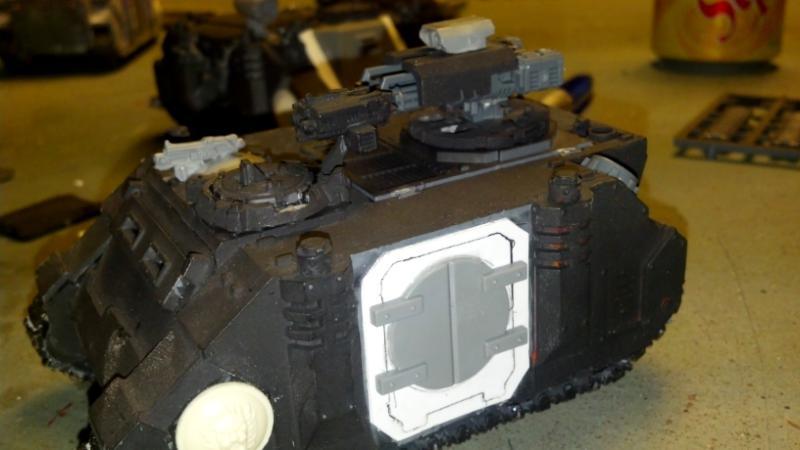 Rhino Composites -- Wip, Space Marines