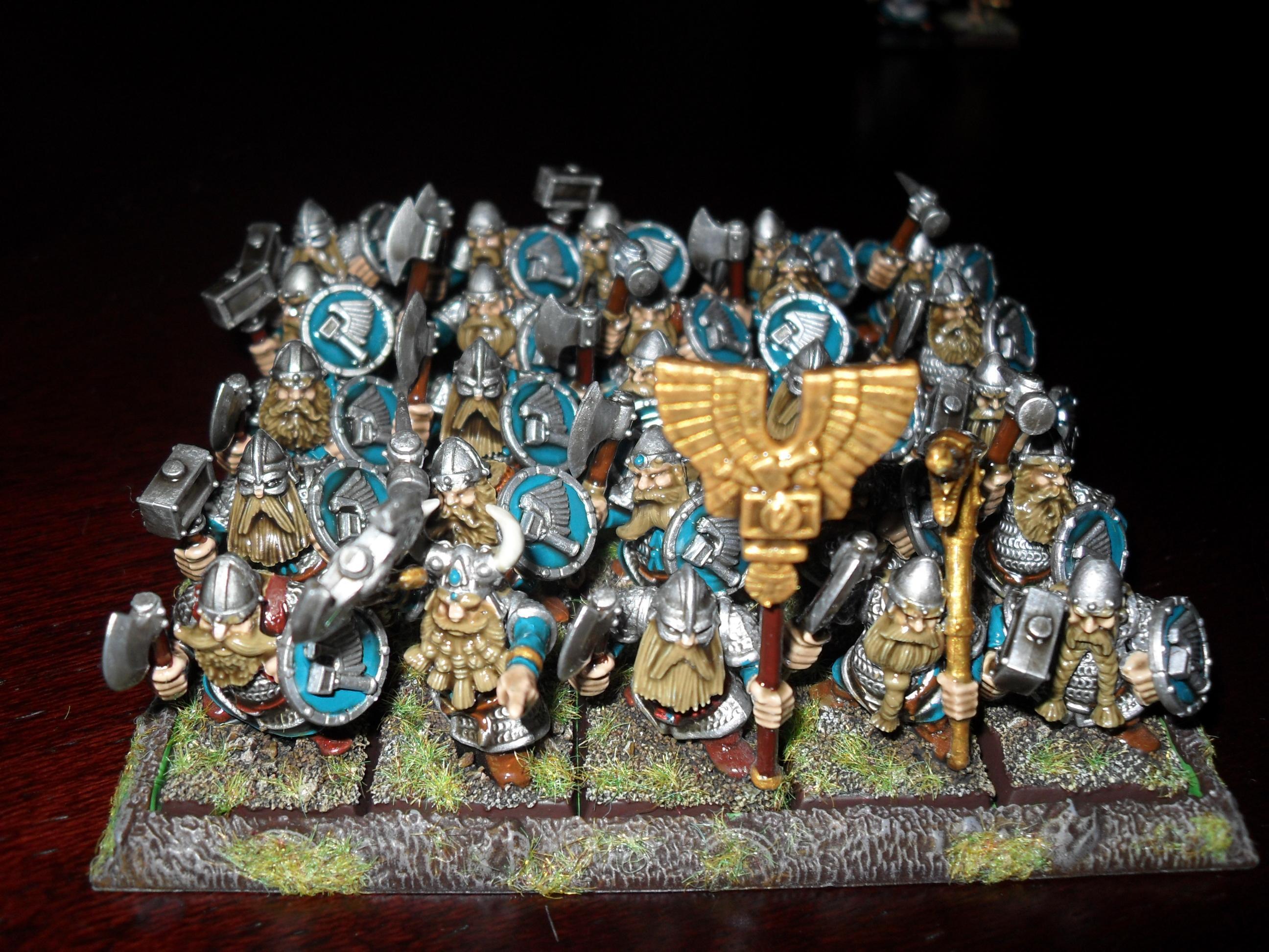 Dwarves, Games Workshop, Painted, Quickshade, Warhammer Dwarfs Quickshade Front View, Warhammer Fantasy