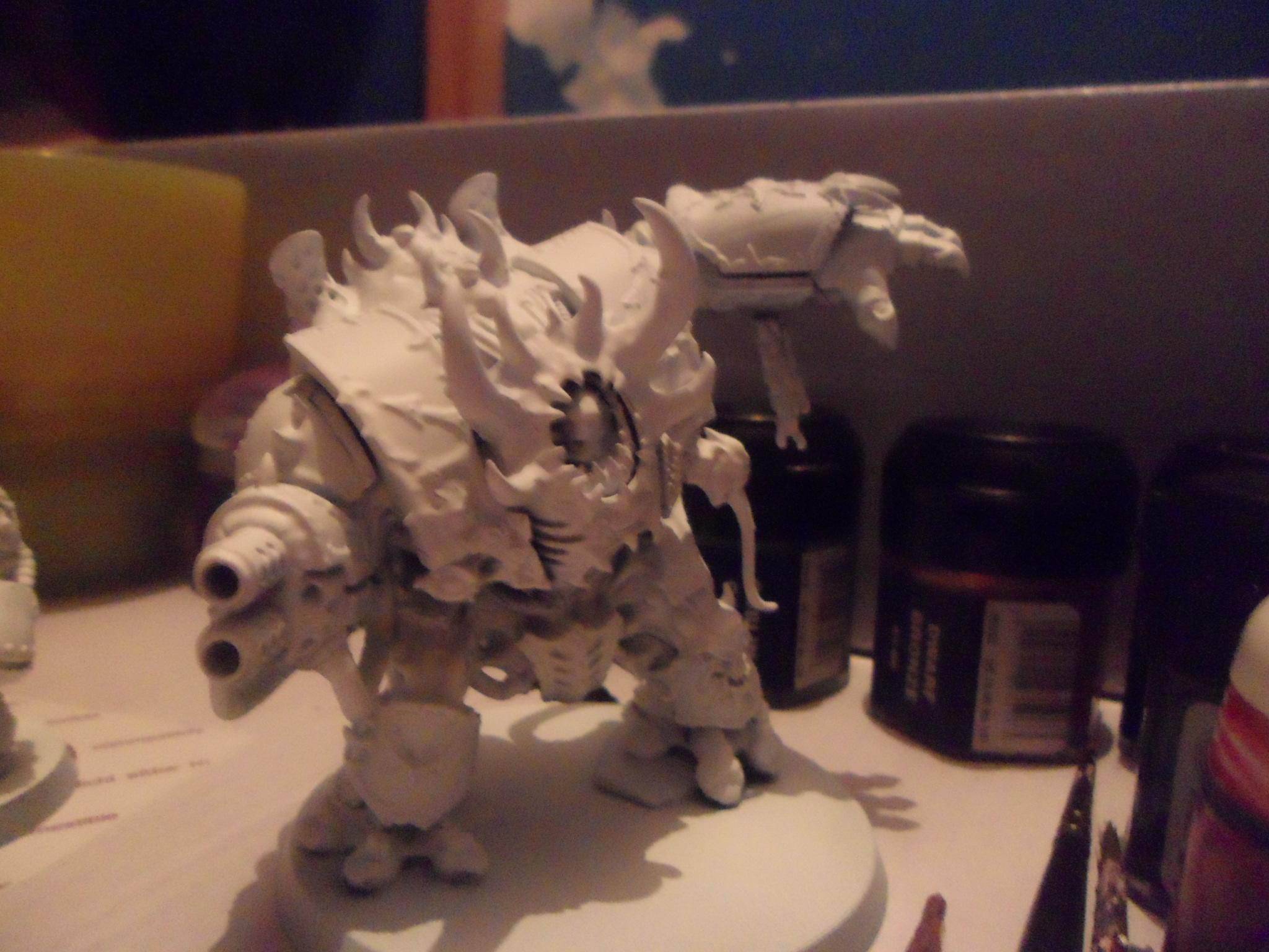 The Helbrute will receive a dryad head like the rest